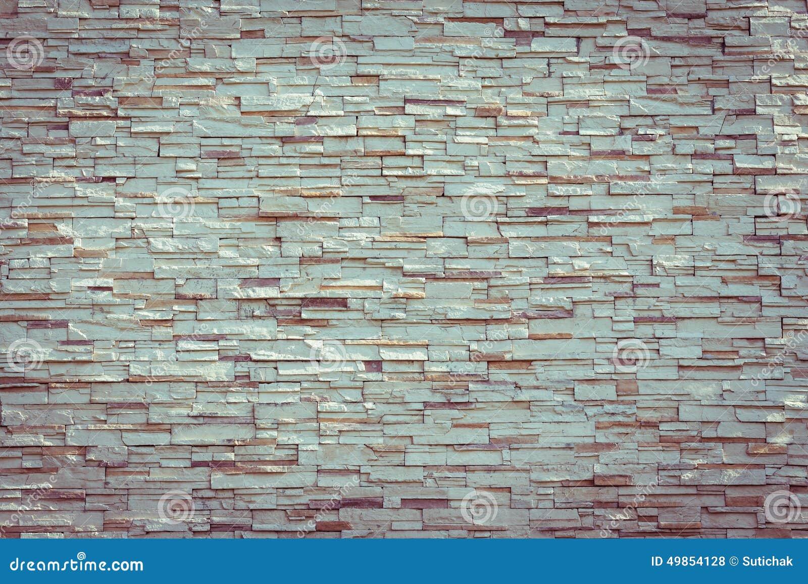 de textuur decoratief binnenlands behang van de steen wit muur 49854128 - Baksteen Behang