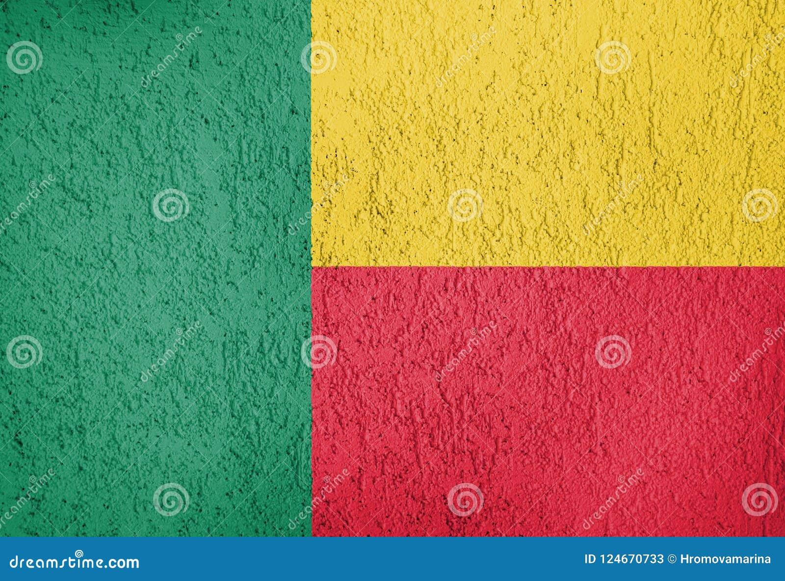 De textuur van Benin vlag
