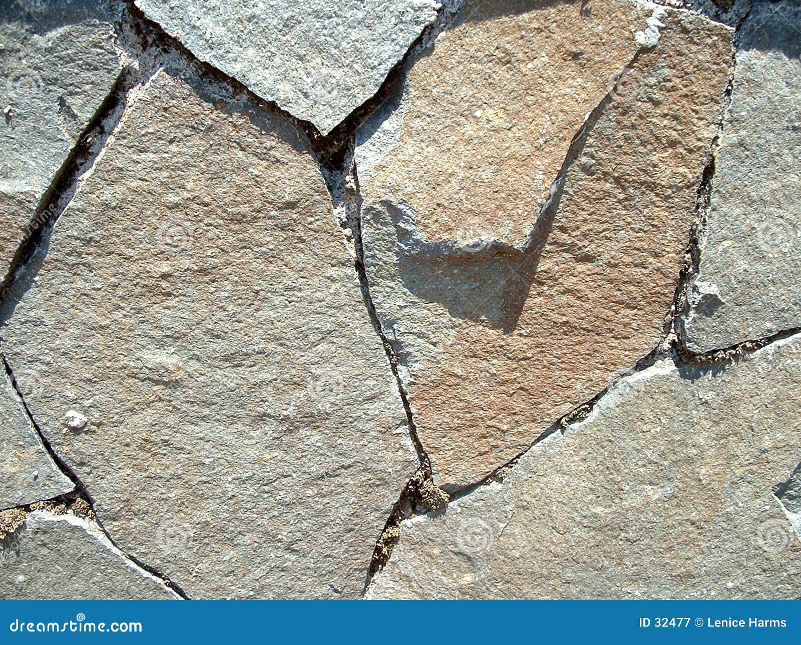 De textuur van de Muur van de steen