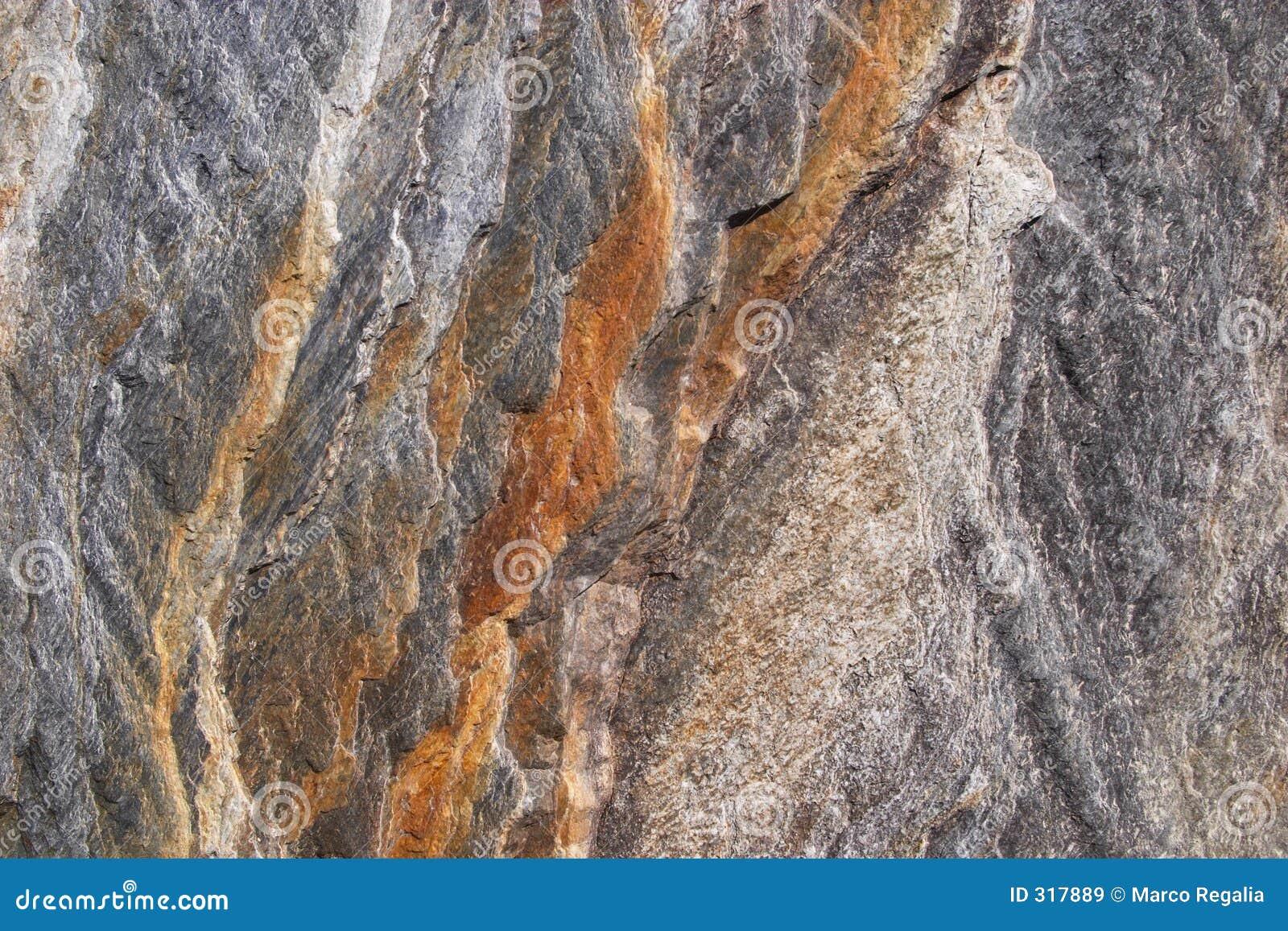 De textuur van de rots
