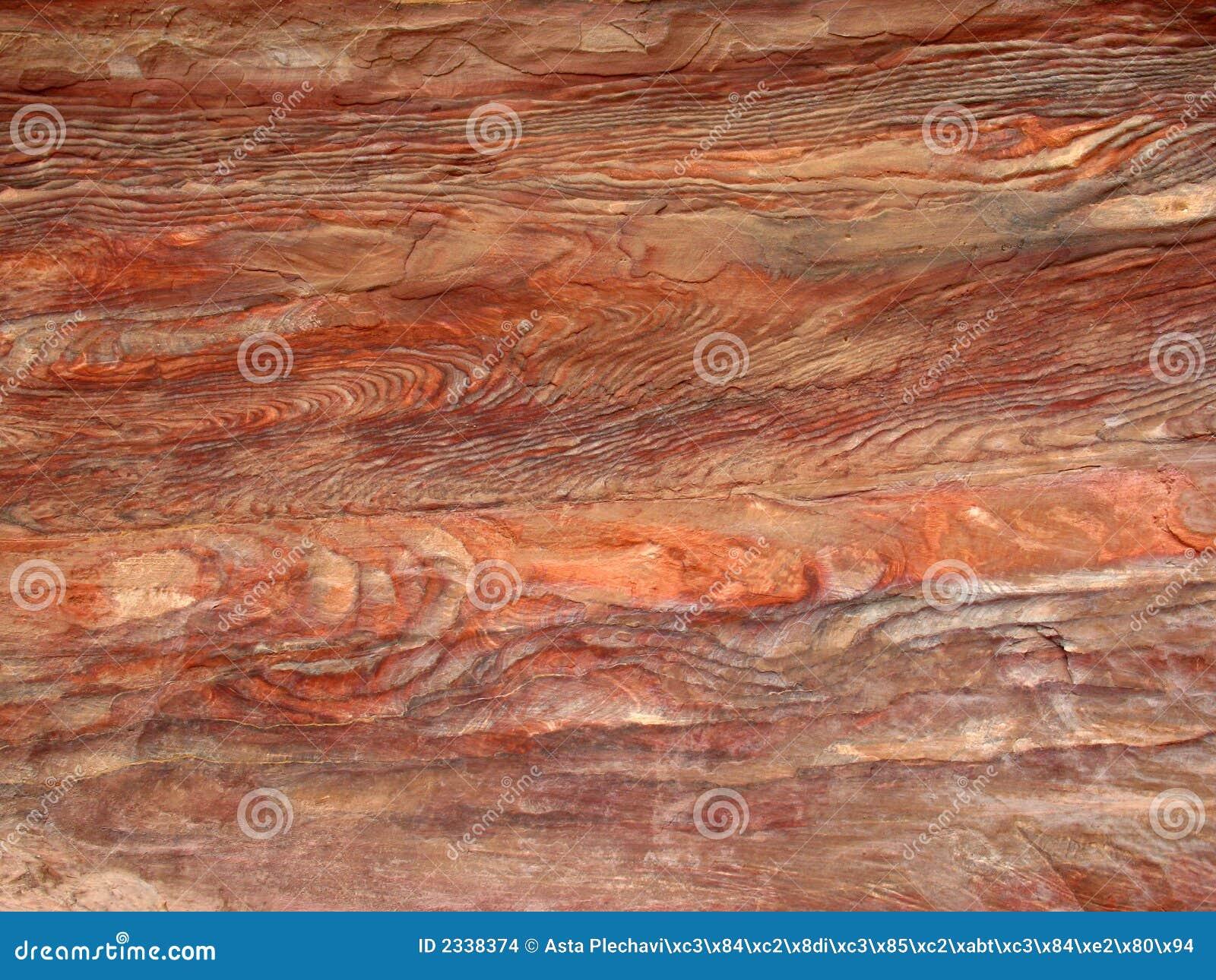 De textuur van de steen in Petra