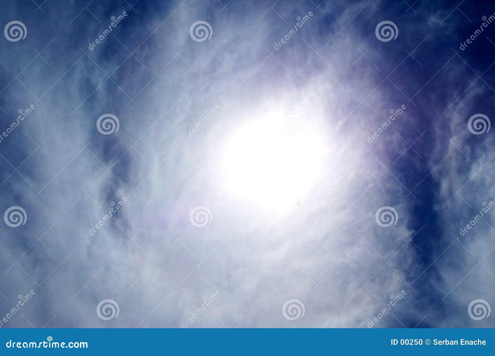 De textuur van de zon en van de wolk