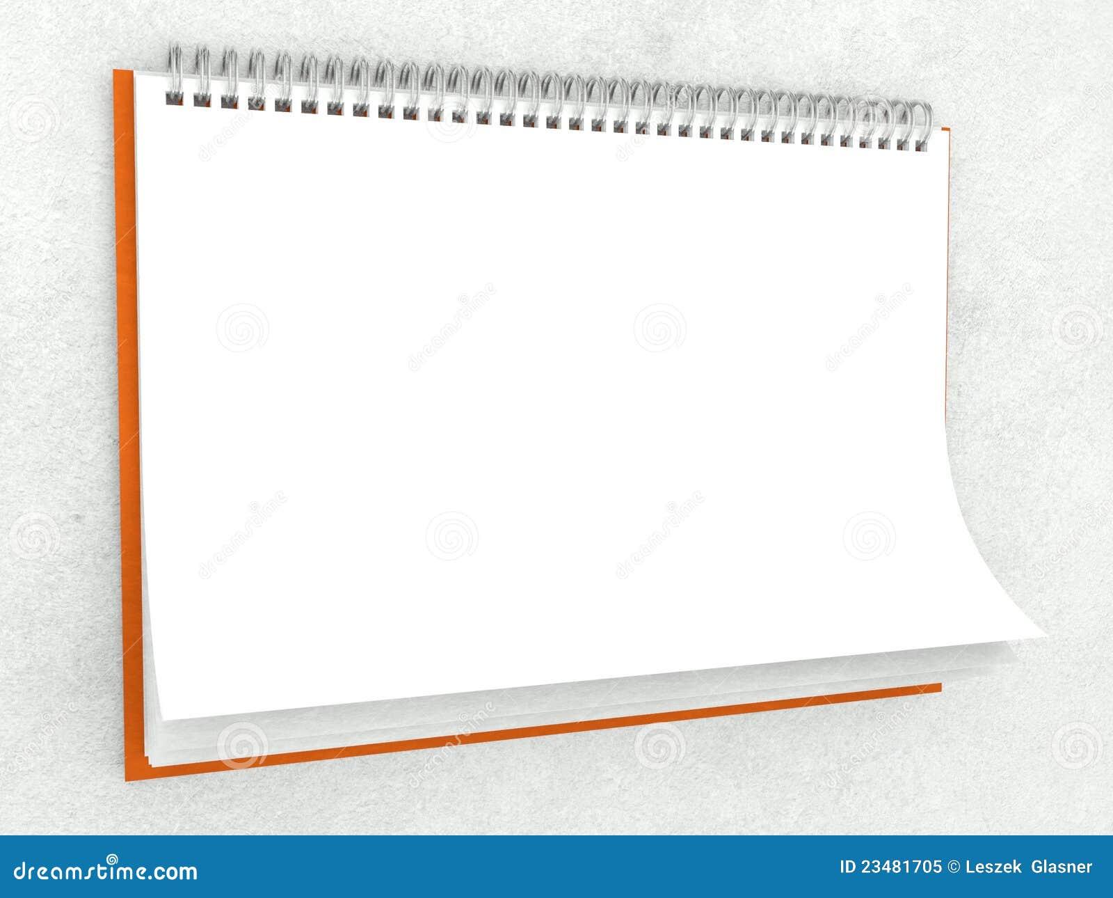 De textuur van het document in blinde muurkalender