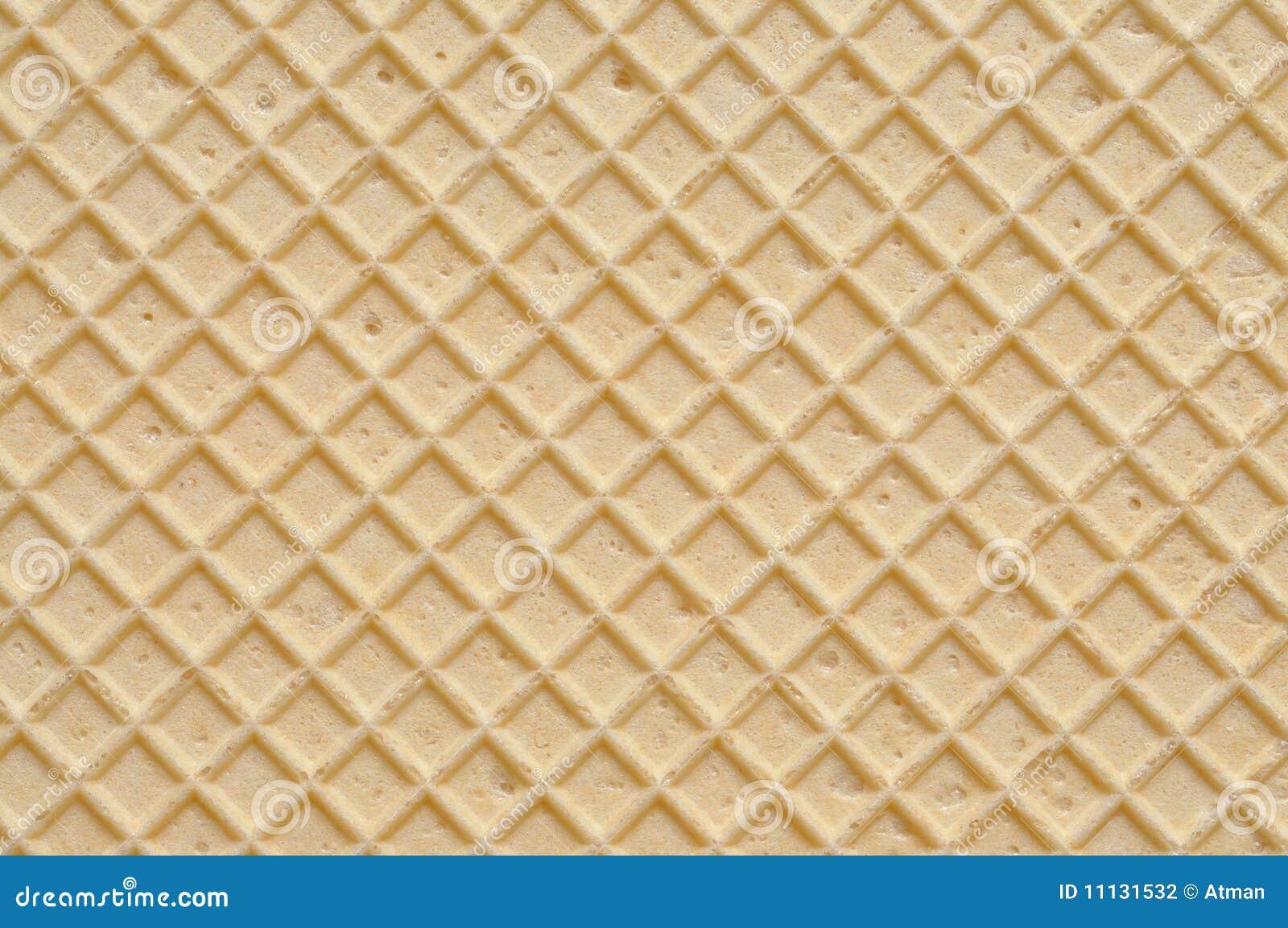 De Textuur van het wafeltje