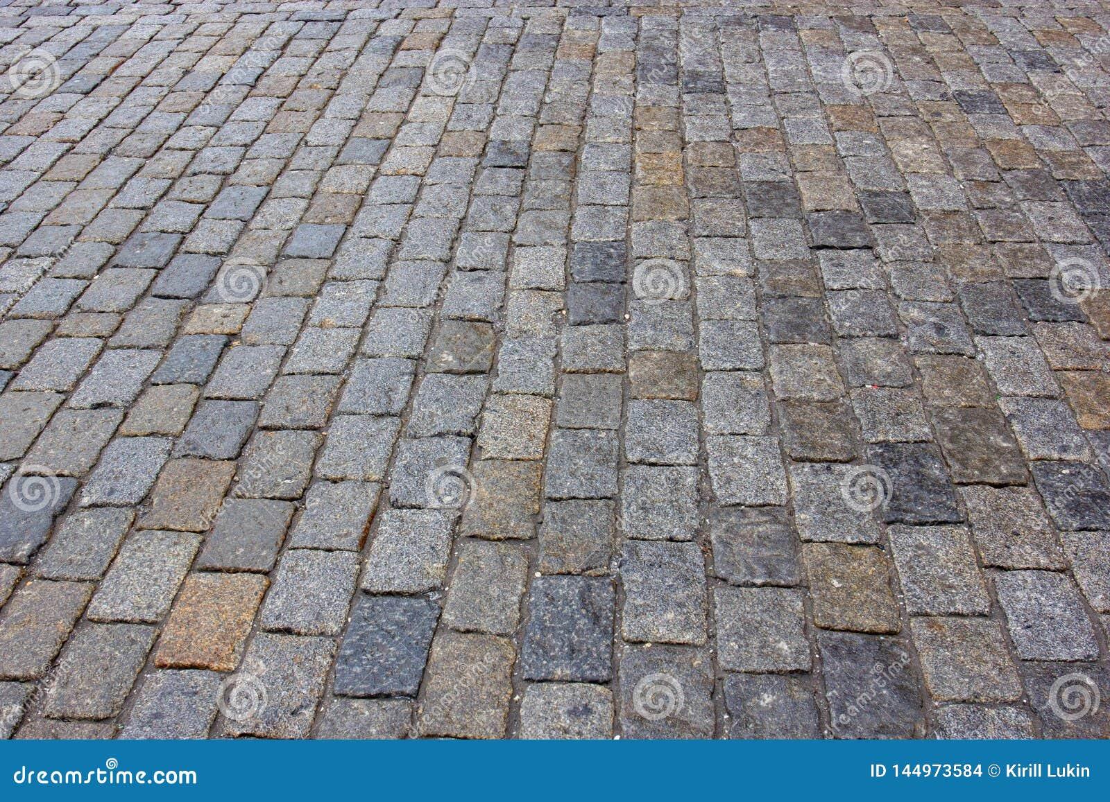 De textuur van straatstenen
