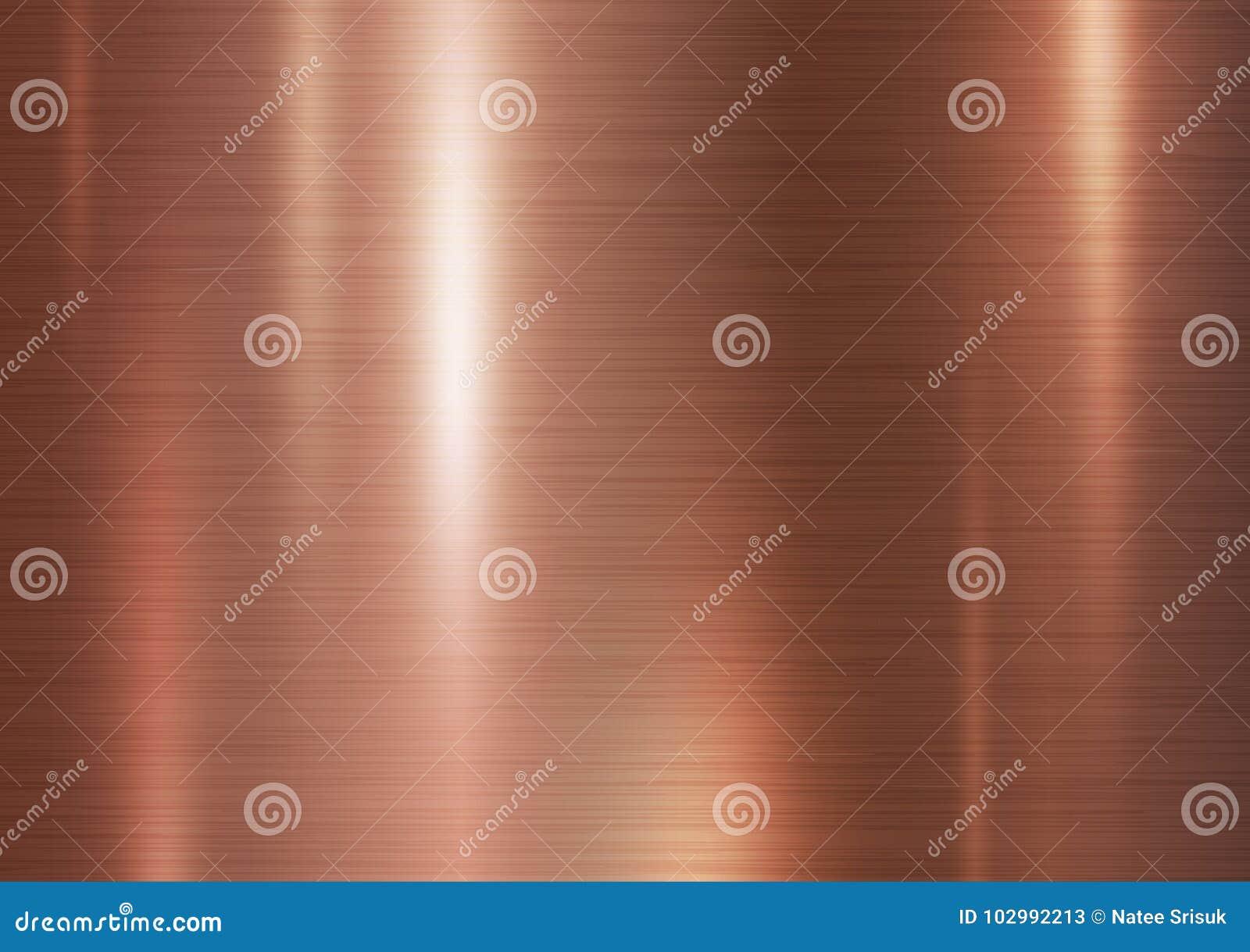 De textuurachtergrond van het kopermetaal