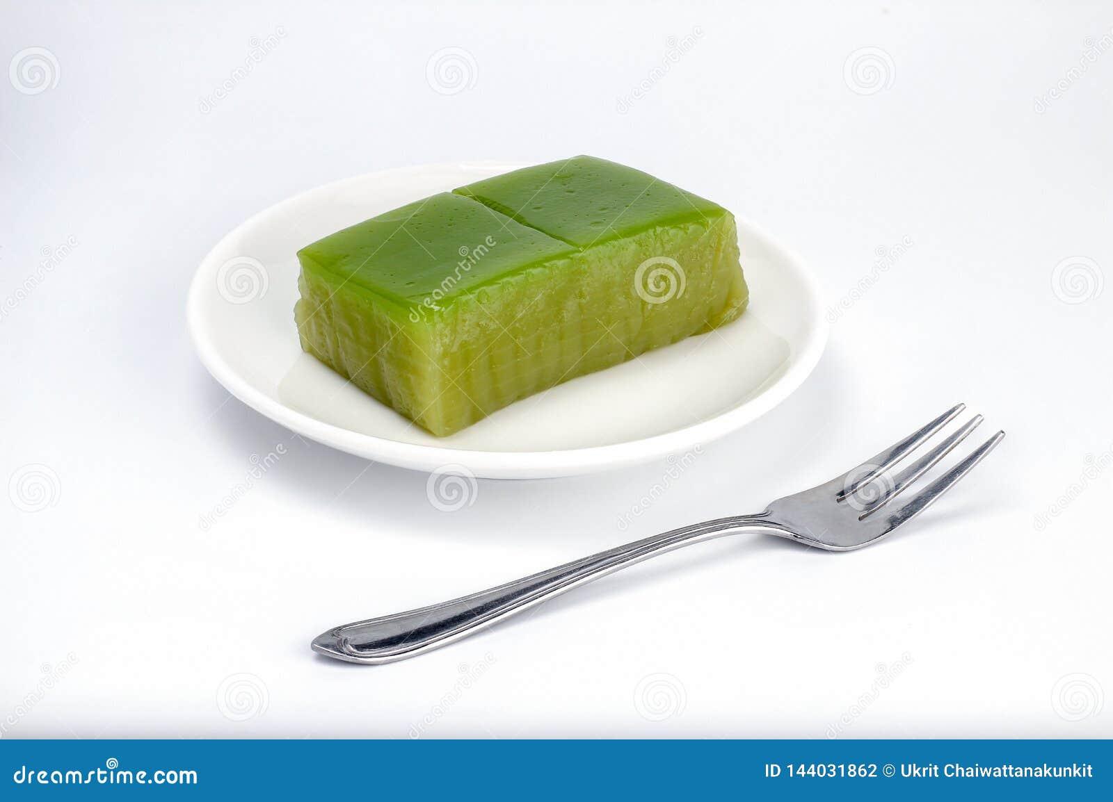 De Thaise cake van de laagsnoepjes van het traditiedessert, de Thaise Zoete multinaam van de laag zoete cake is Kanom Chan