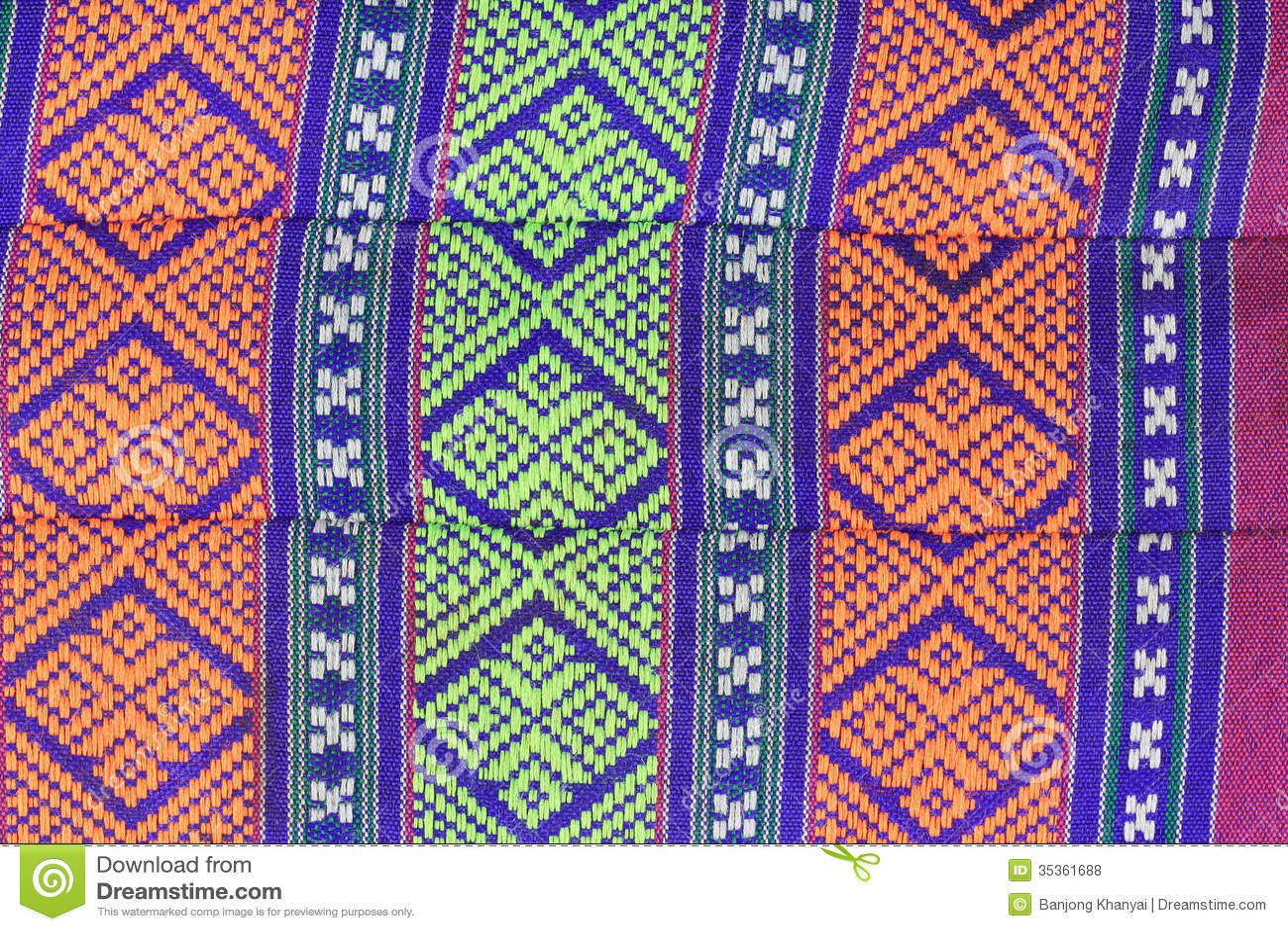 De Thaise stijl van de patroonkunst op katoenen hoofdkussen