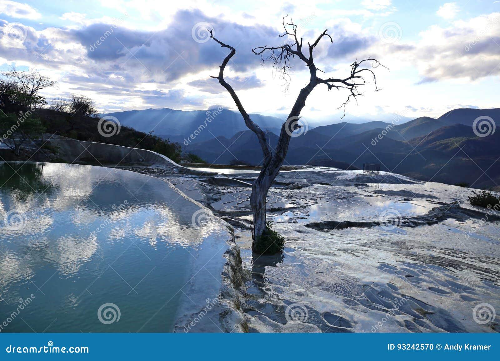 De thermische Minerale Lente Hierve Gr Agua