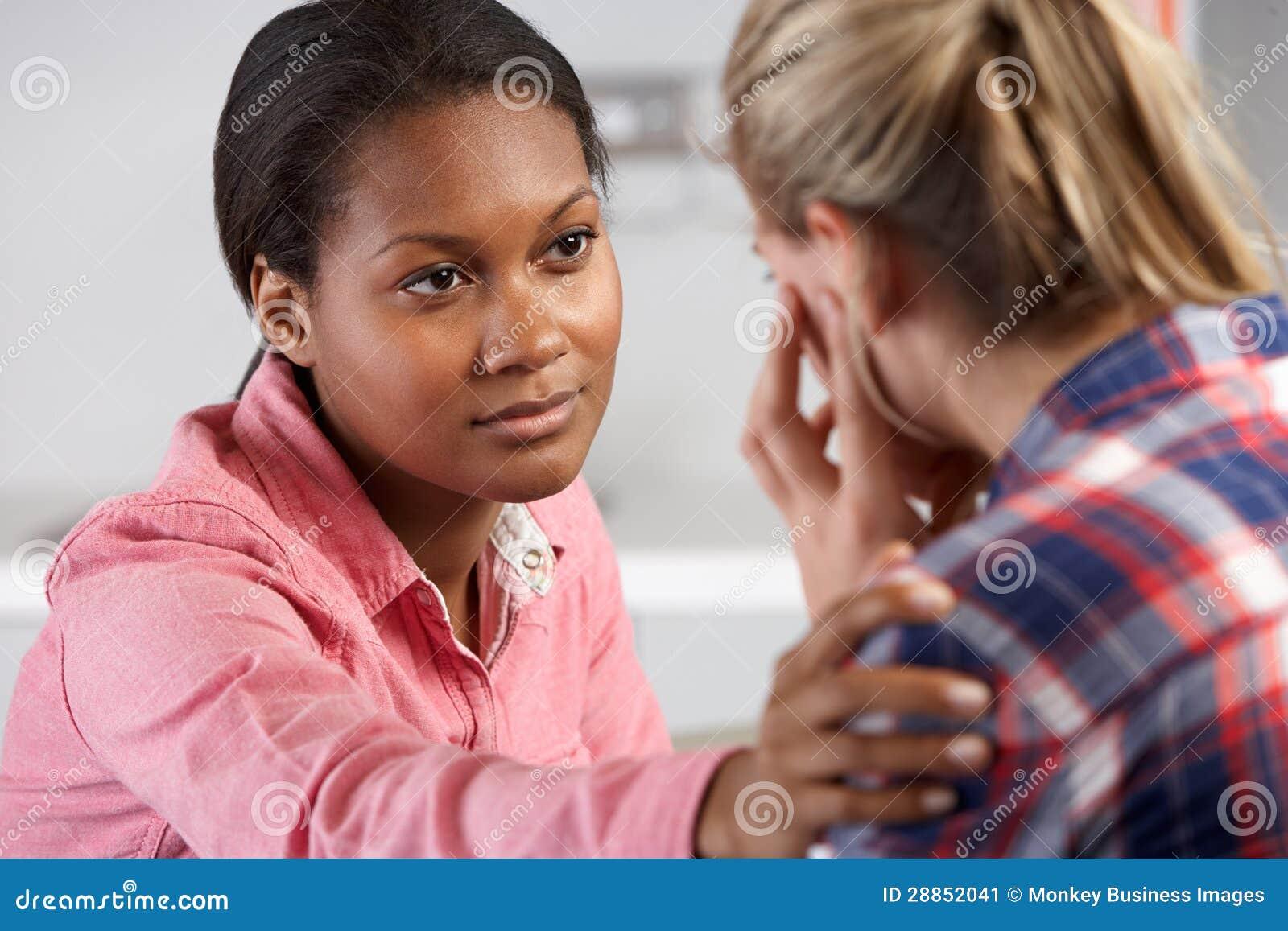 De tiener bezoekt Spreekkamer die met Depressie lijden