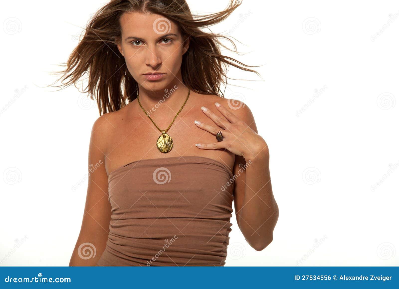 De tiener sexy meisje van het portret op witte achtergrond stock foto afbeelding 27534556 - Ruimtekleur tiener meisje ...