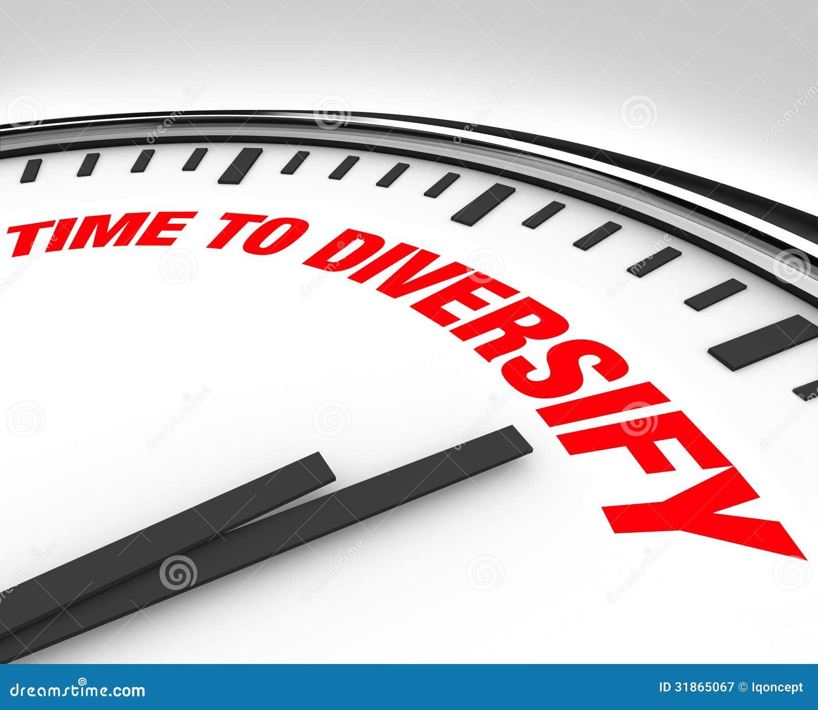 De tijd om Klok te diversifiëren beheert Investeringsrisico