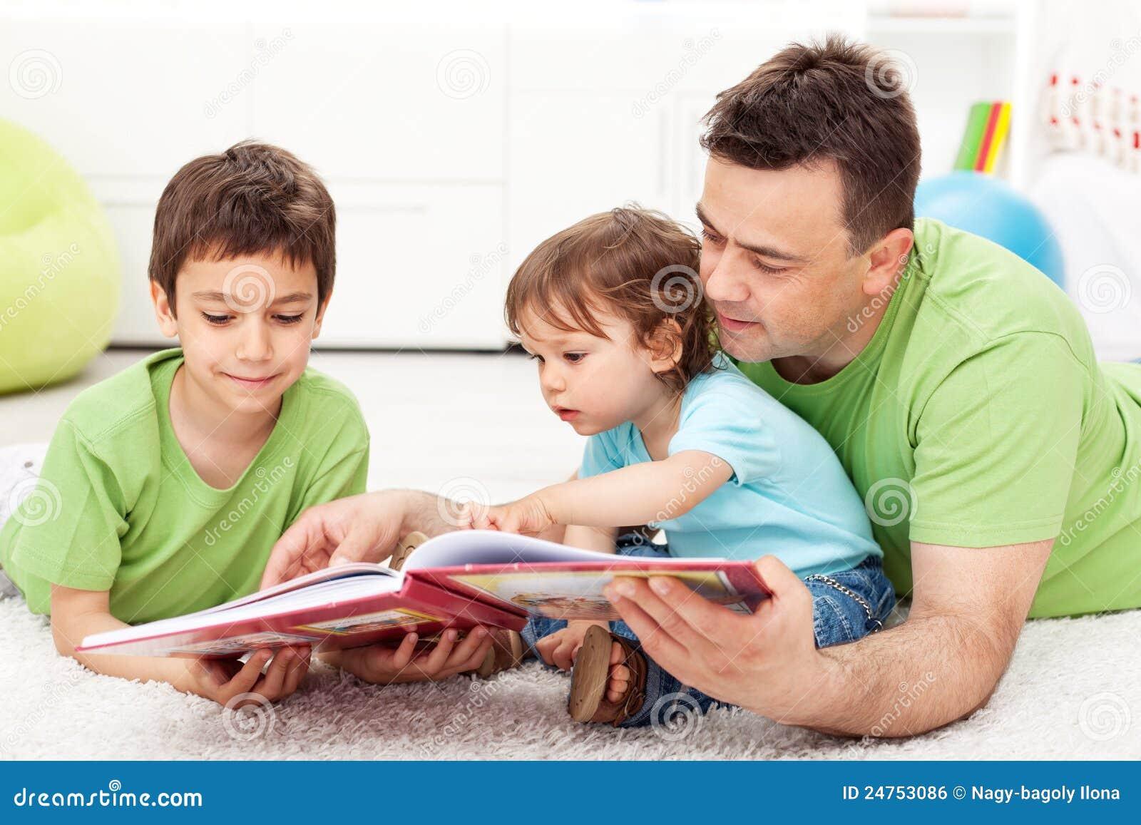 De tijd van de lezing met vader