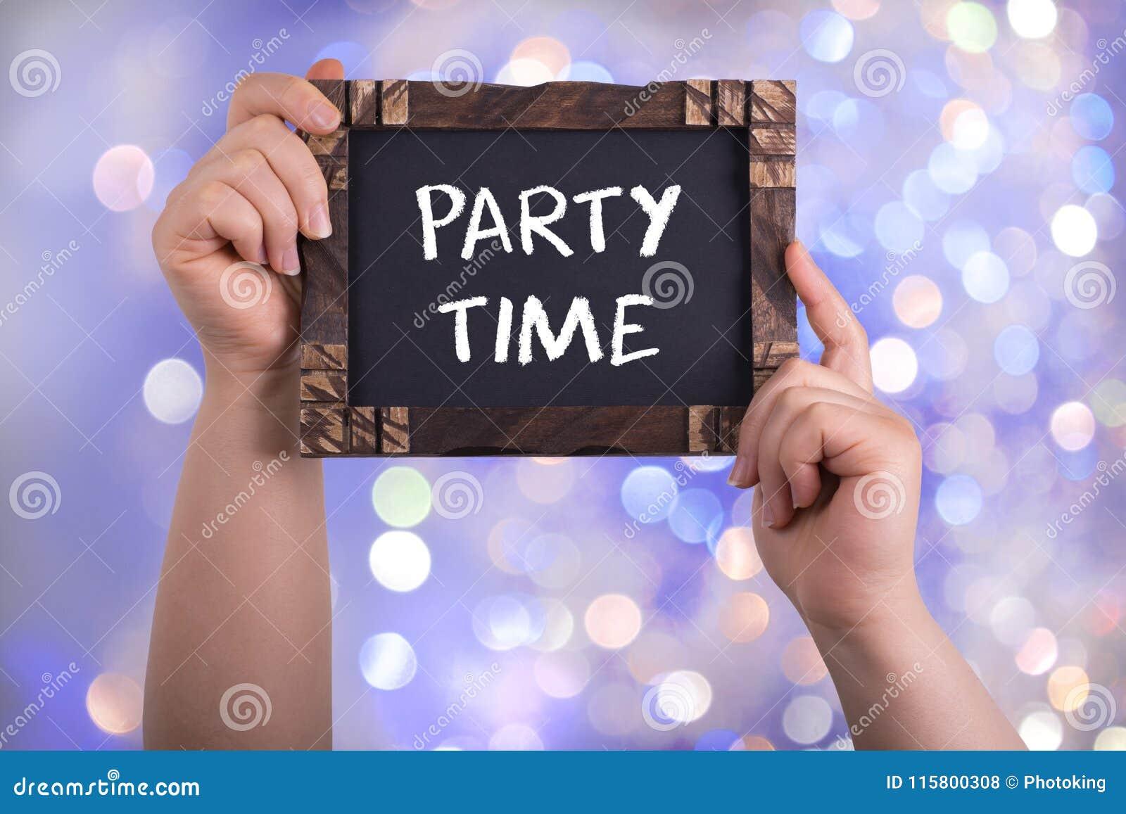 De tijd van de partij