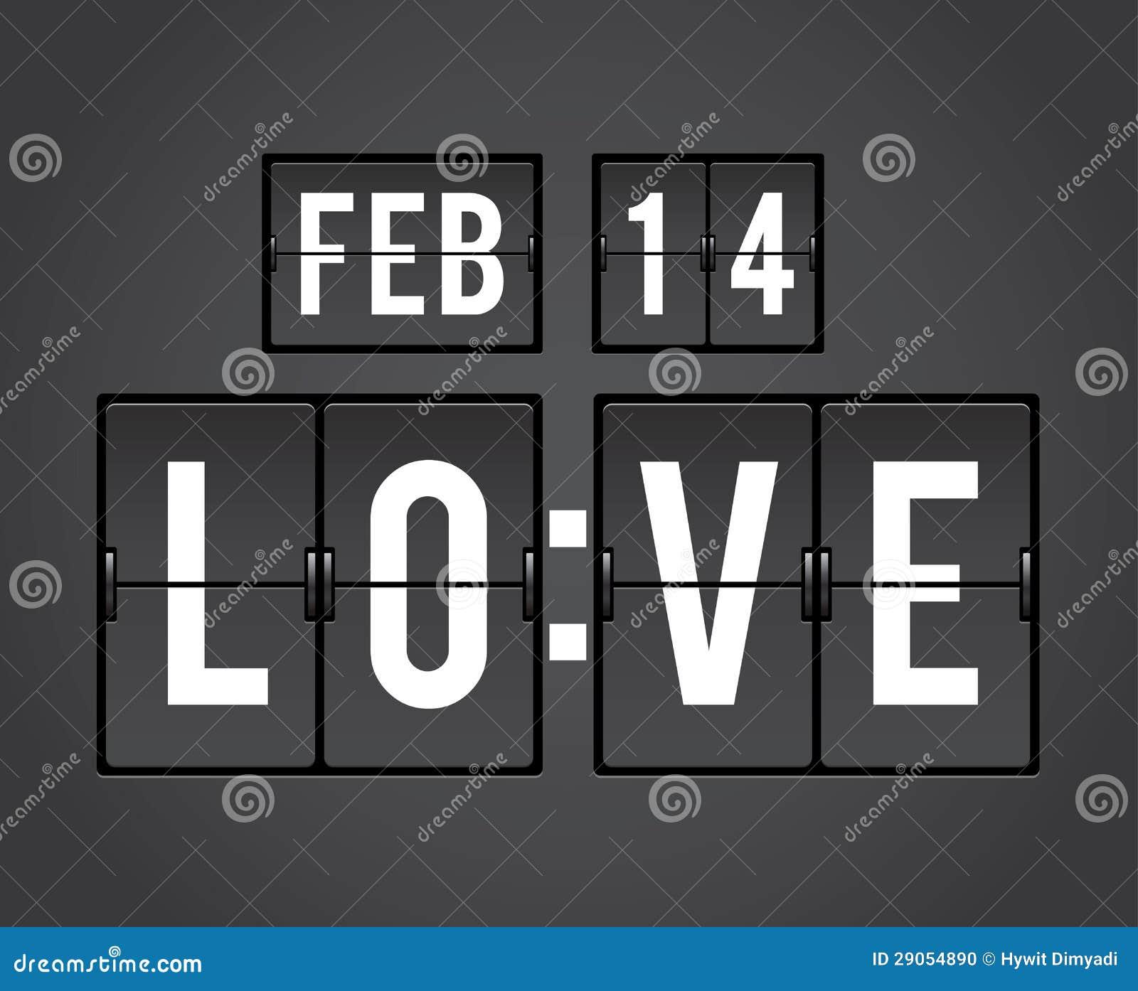De tiktijdopnemer van de Aftelprocedure van de Dag van valentijnskaarten