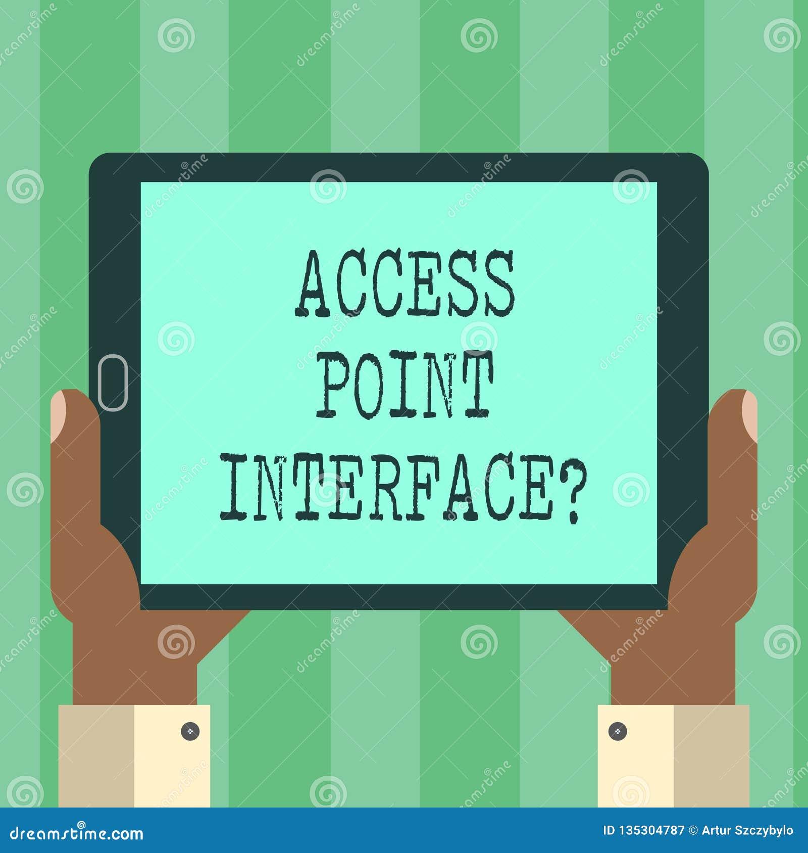 De Toegangspunt Interfacequestion van de handschrifttekst De conceptenbetekenis staat draadloos apparaat toe om met een de analys