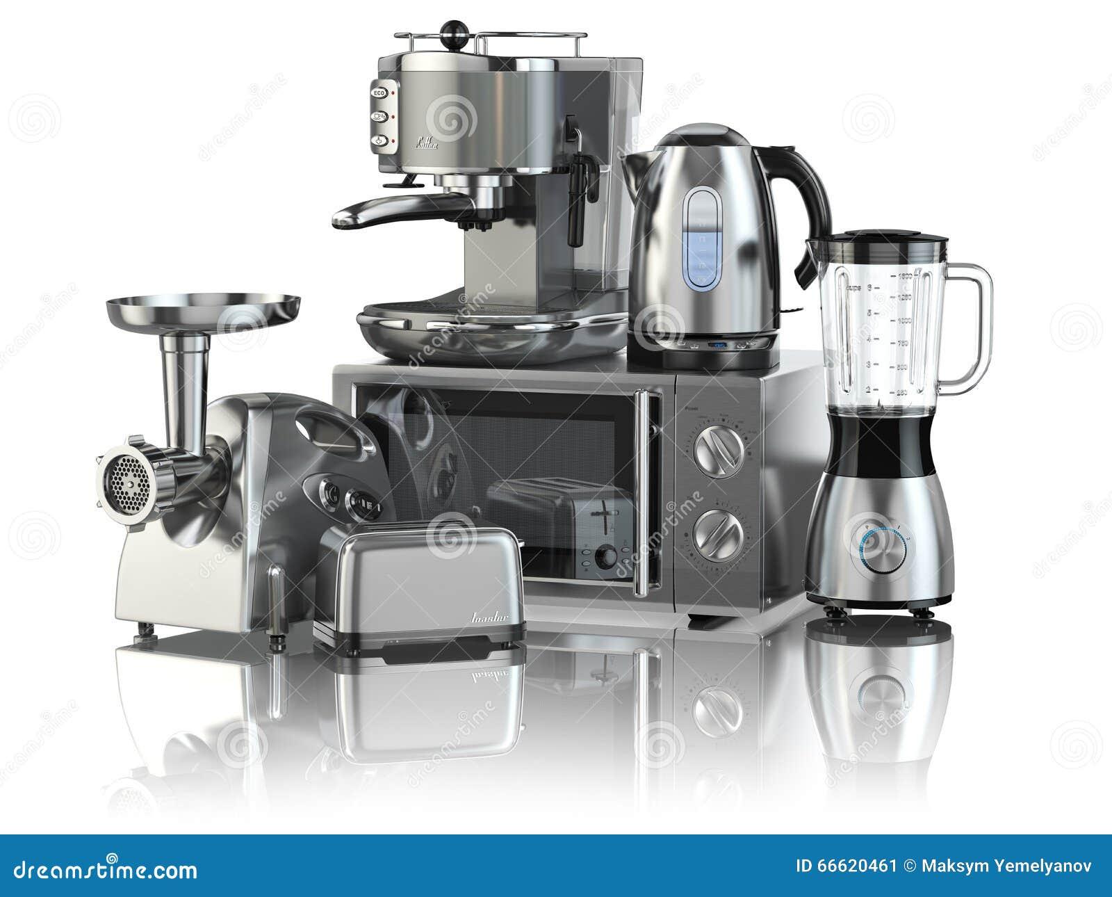 Koffiemachine De Keuken : De toestellen van de keuken mixer broodrooster koffiemachine