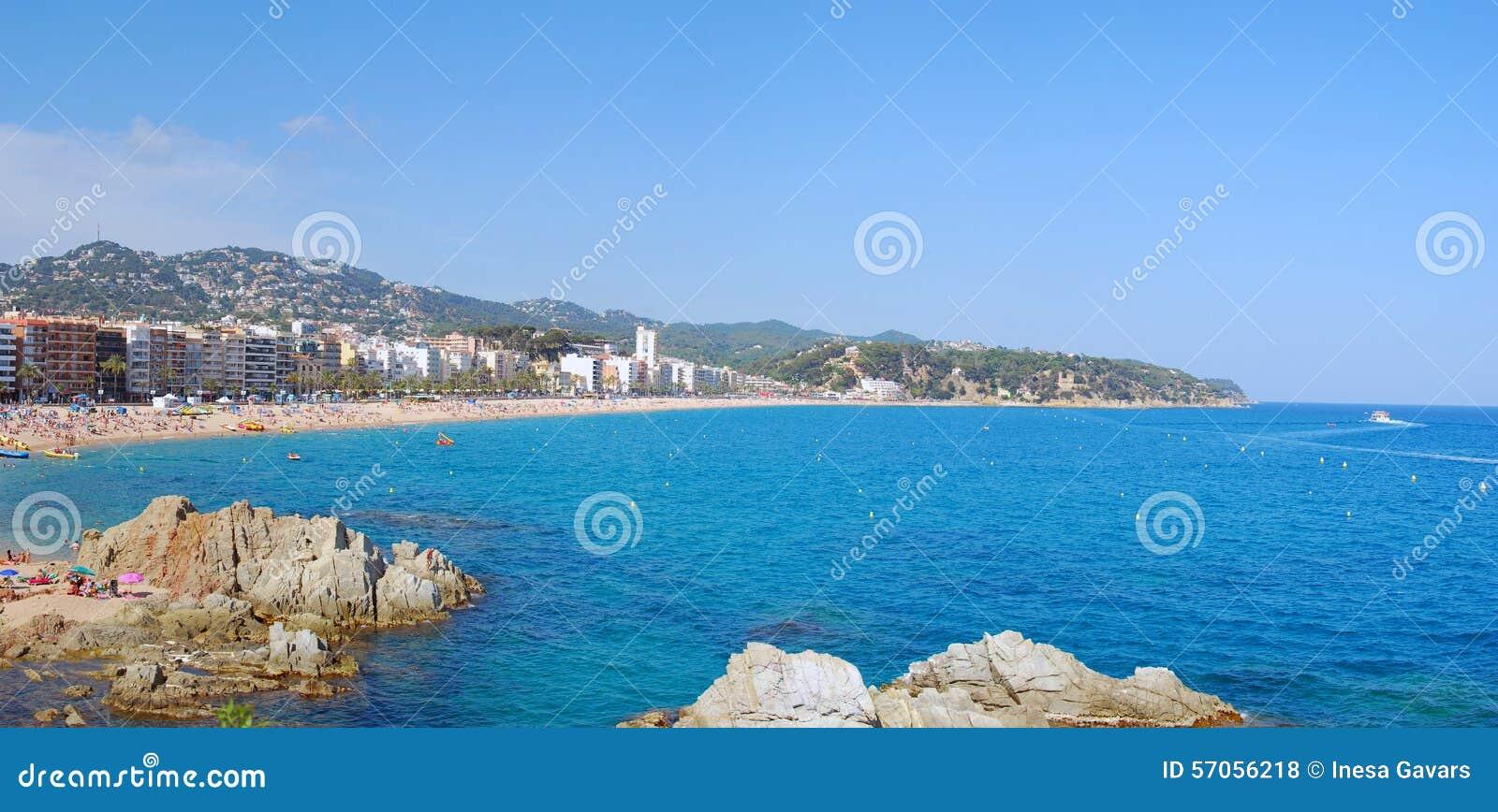 De toevlucht van Lloret de Mar in Spanje