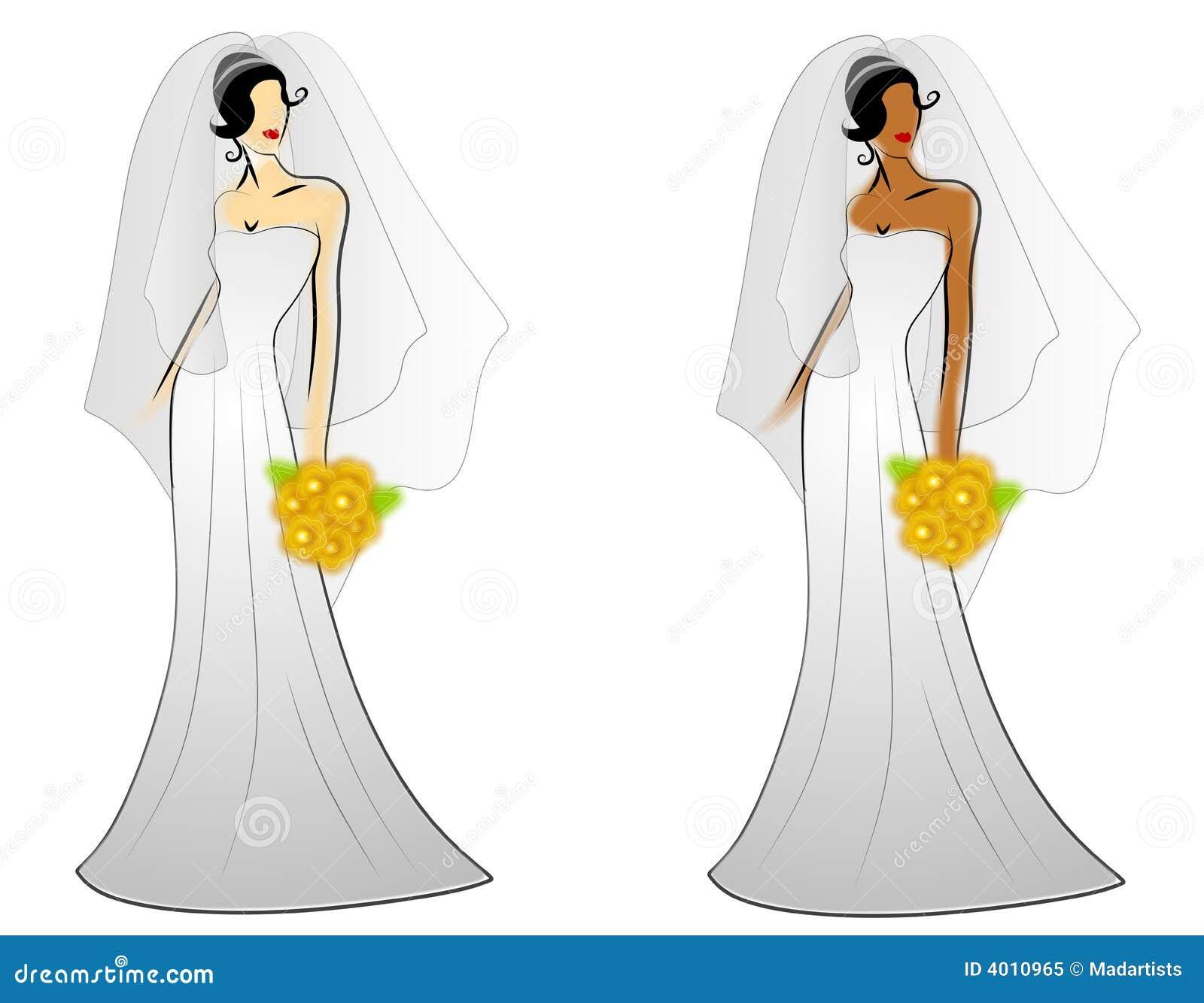 De Toga s van het Huwelijk van de Bruid van de manier