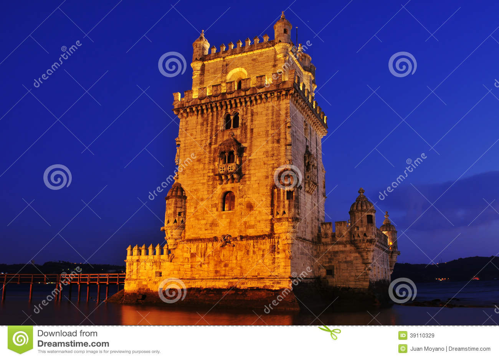 De Toren van Belem in Lissabon, Portugal