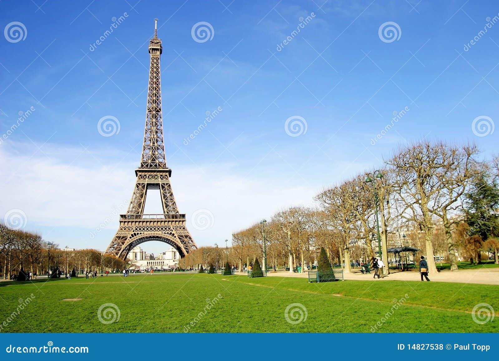 De Toren van Eiffel in de Stad van Parijs, Frankrijk
