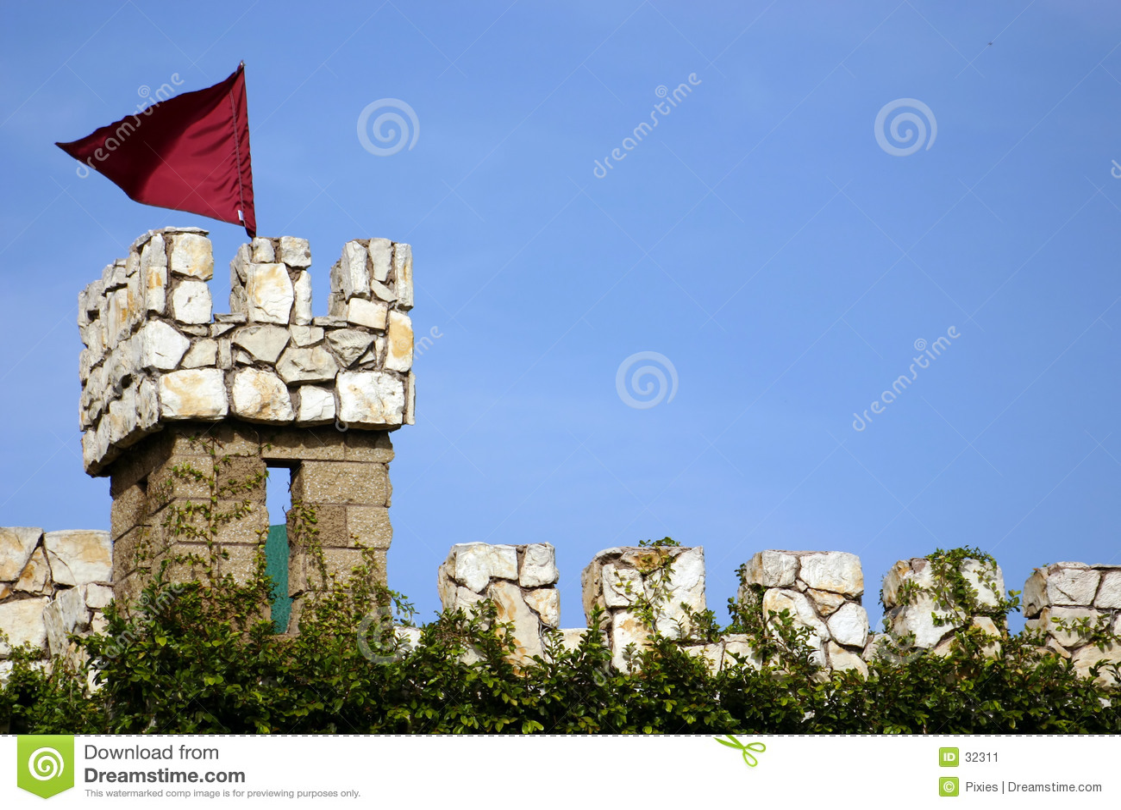 De Toren van het Horloge van het kasteel