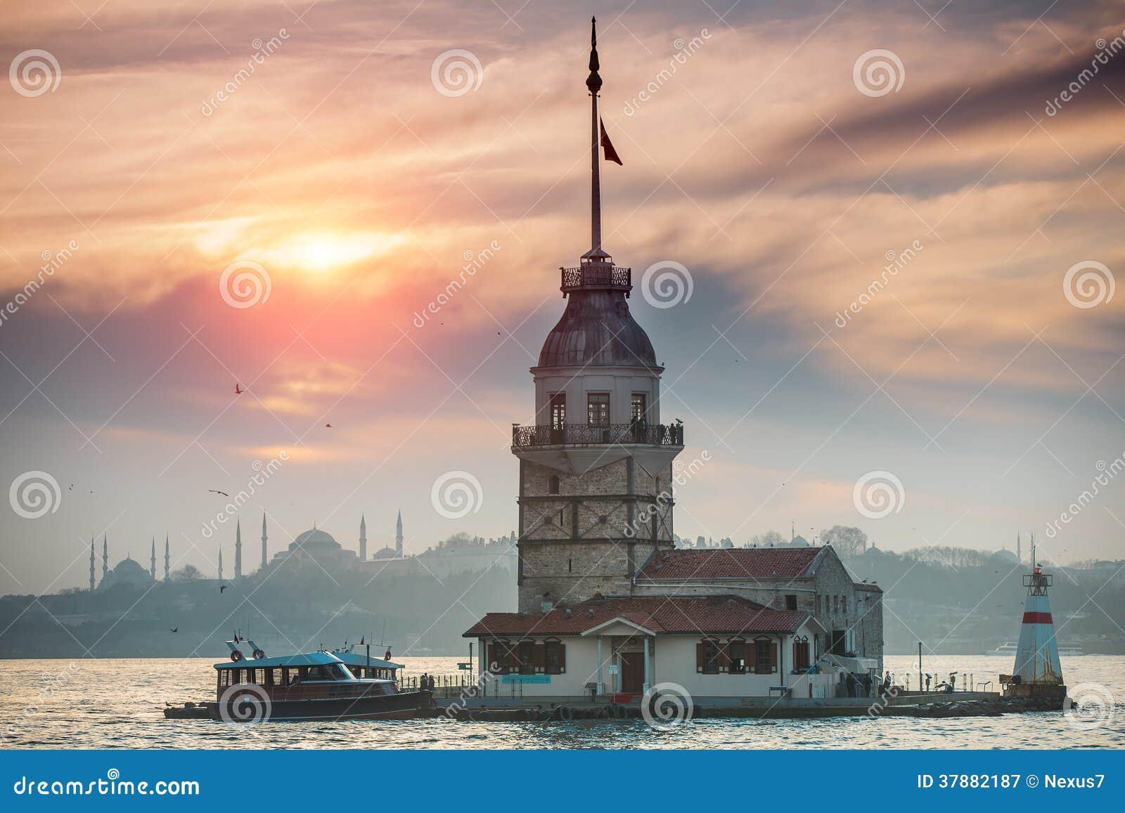 De Toren van het meisje in Istanboel