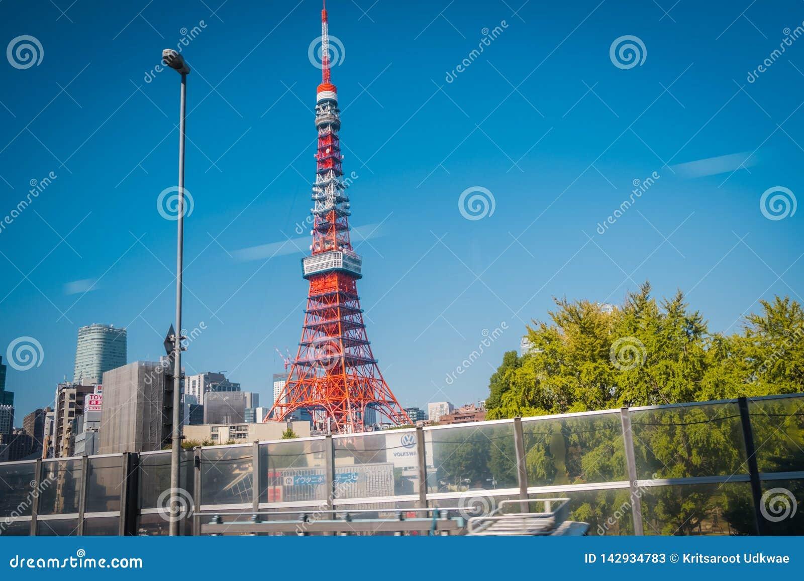 De toren van Tokyo bij shiba-Koen district, Tokyo, Japan
