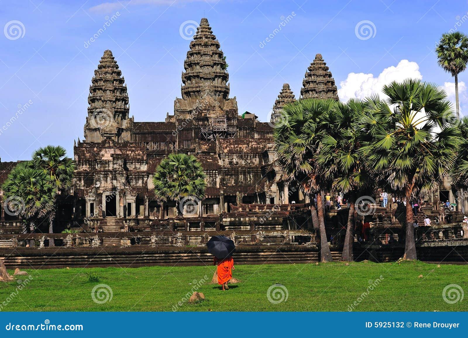 De torensmening van kambodja angkor wat van de bibliotheek stock foto afbeelding 5925132 - Bibliotheek van de wereld ...