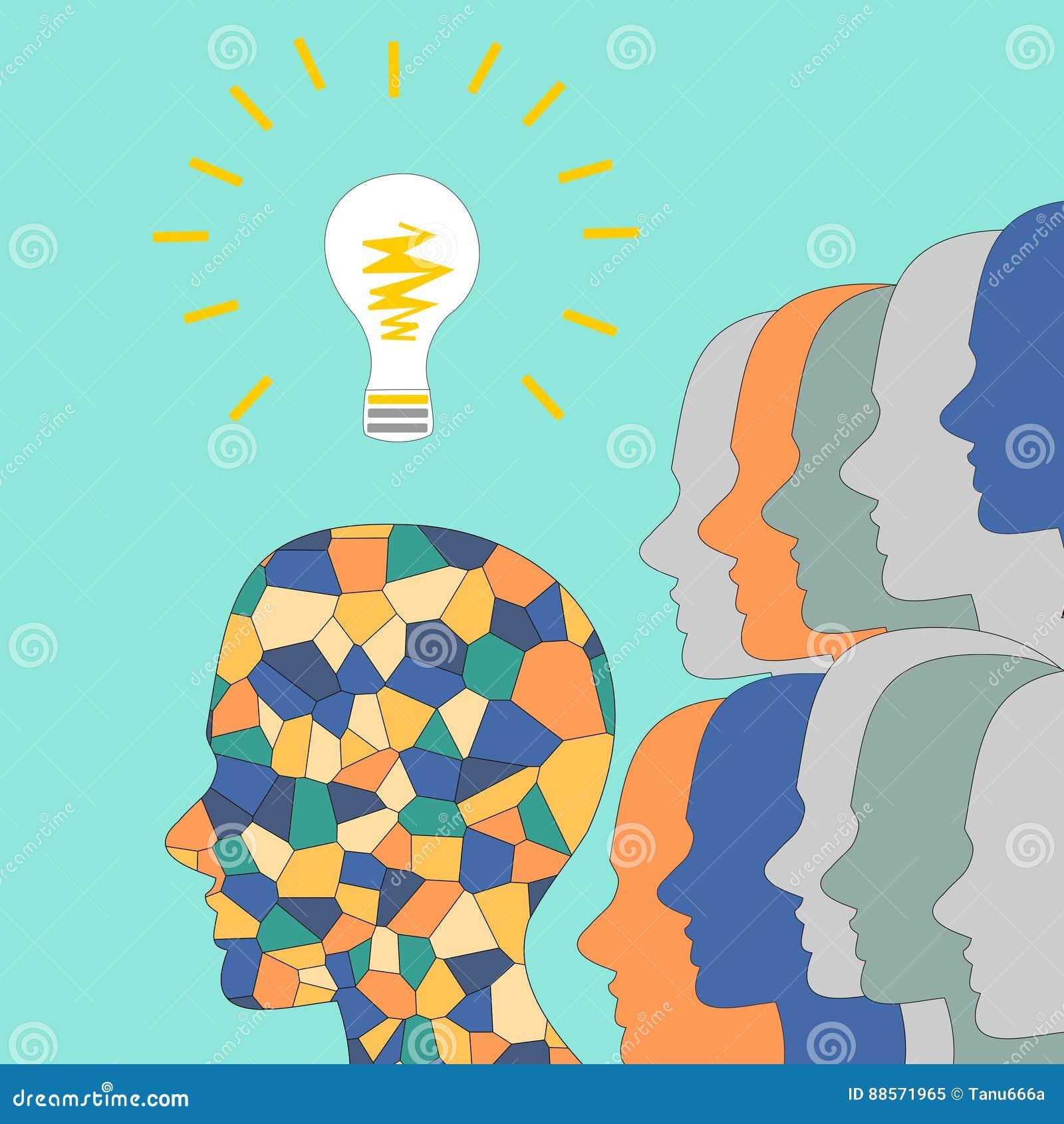 de totstandkoming van ideen het mozaekhoofd van de mens verlichting