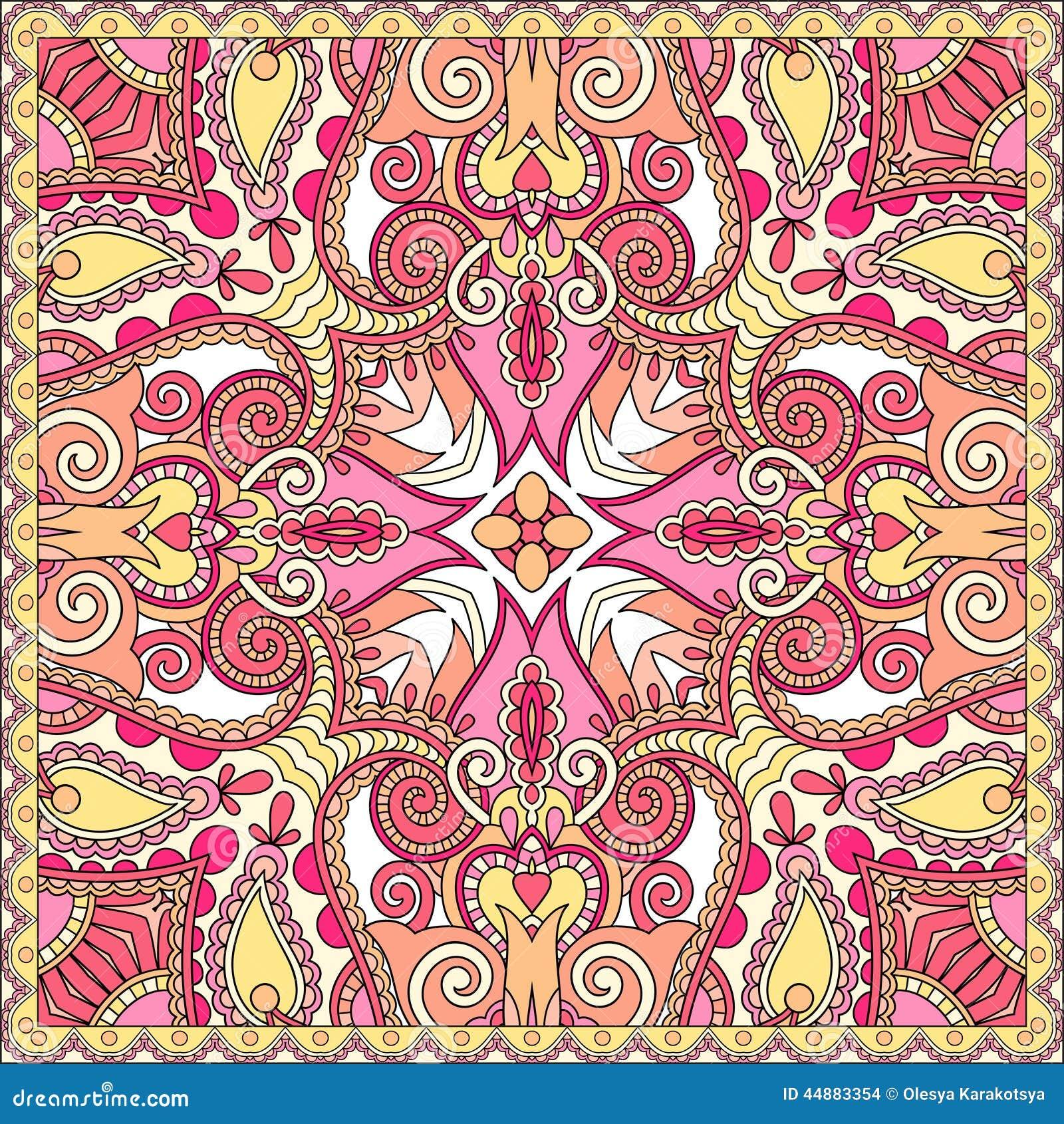 De traditionele sier bloemenbandana van paisley vector illustratie afbeelding 44883354 - Pouf eigentijds ontwerp ...