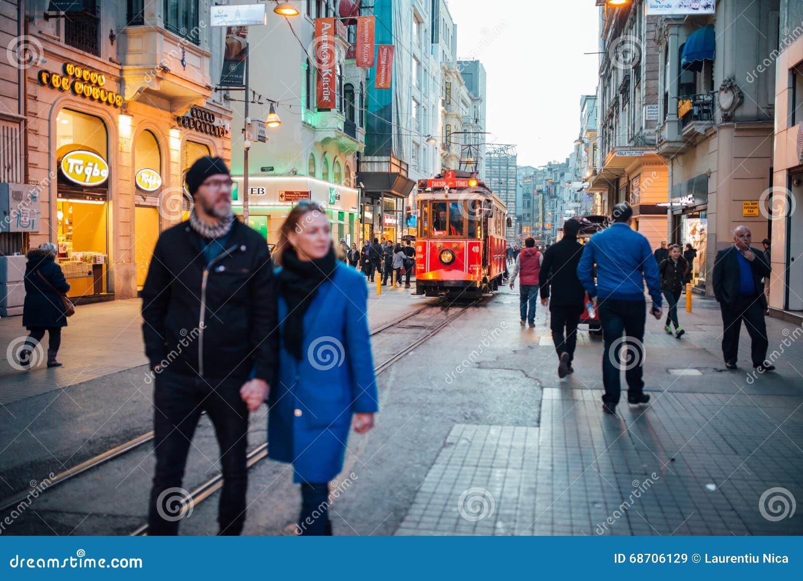 De tram van Taksim, Istanboel