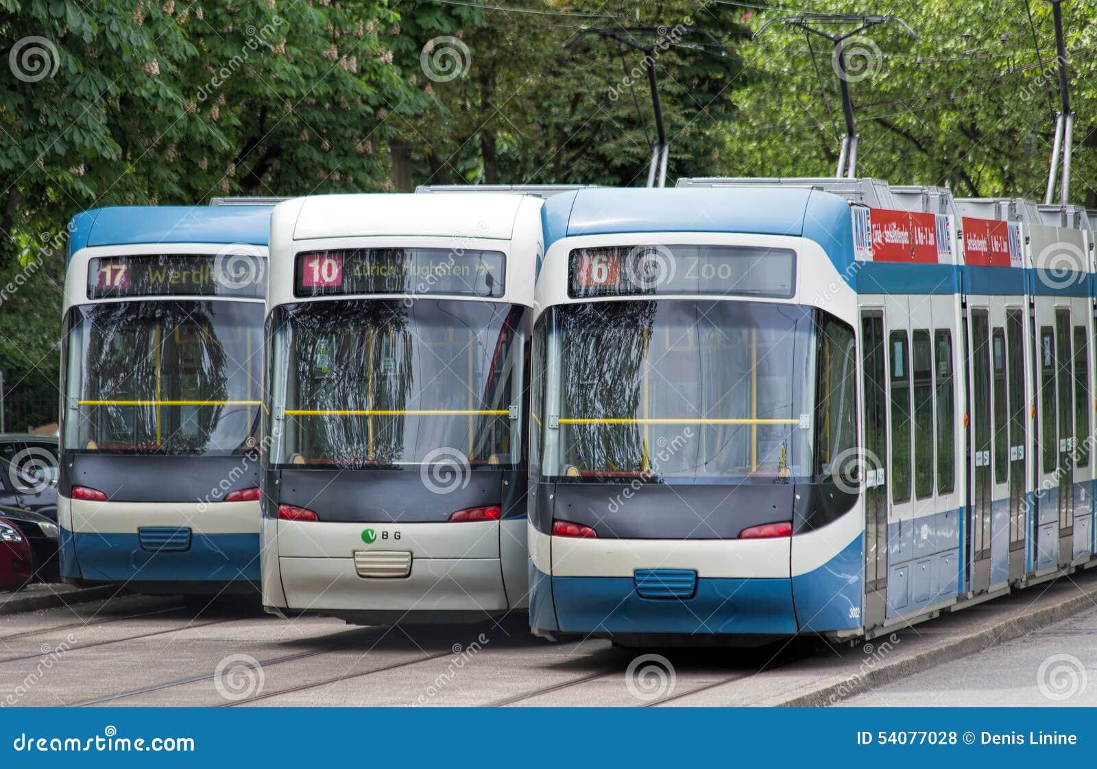 De trams van Zürich