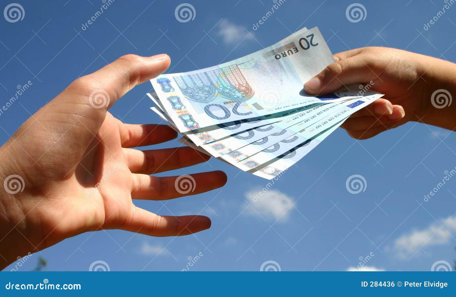 De Transactie van het contante geld
