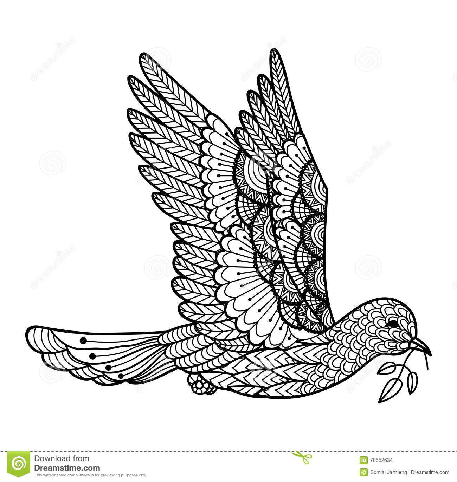 De transport feuilles de colombe conception de sch ma pour le logo signe affiche graphique de - Colombe coloriage ...