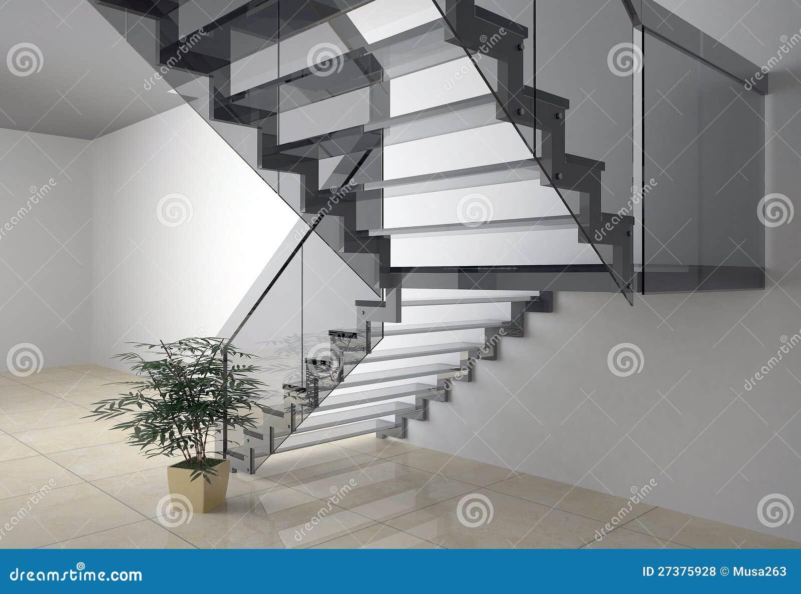 De trap van het glas stock illustratie illustratie bestaande uit