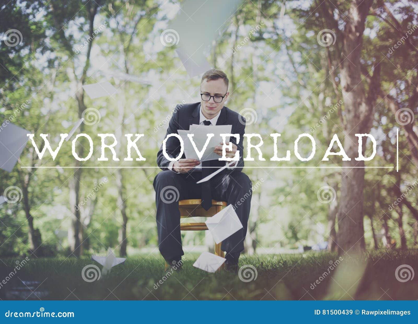 De travail de surcharge concept de contrôle du stress des heures supplémentaires