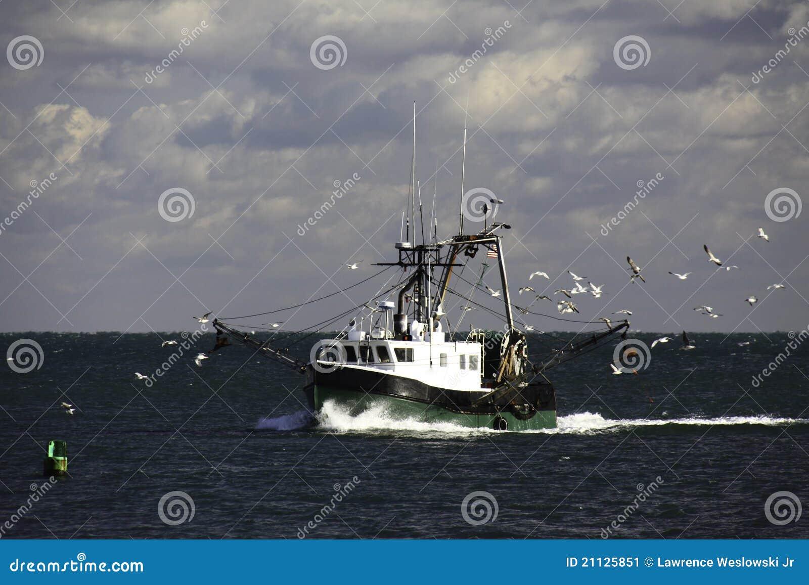 De Treiler en de Zeemeeuwen van de Visserij van New England