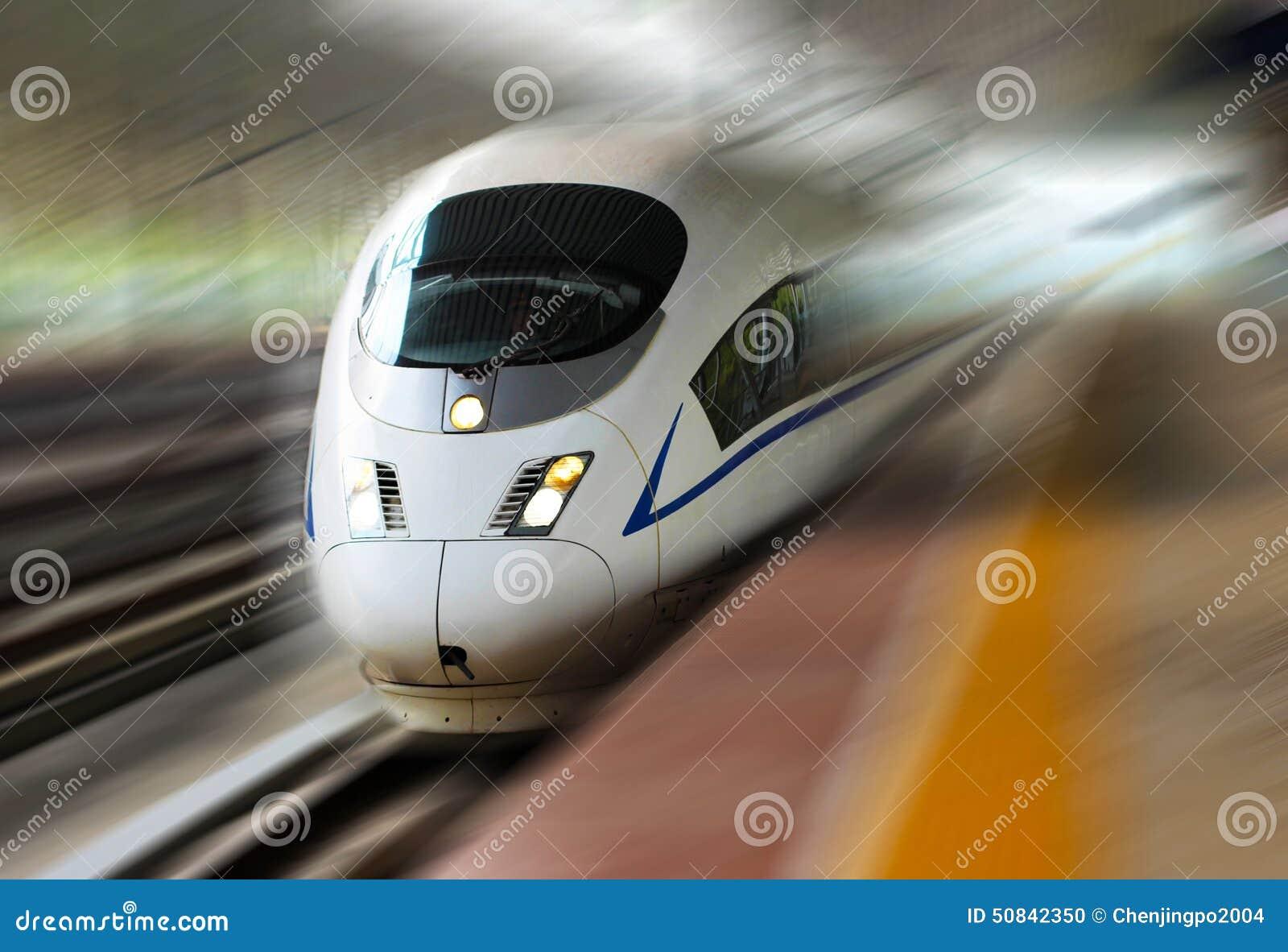 De trein van de hoge snelheid van China