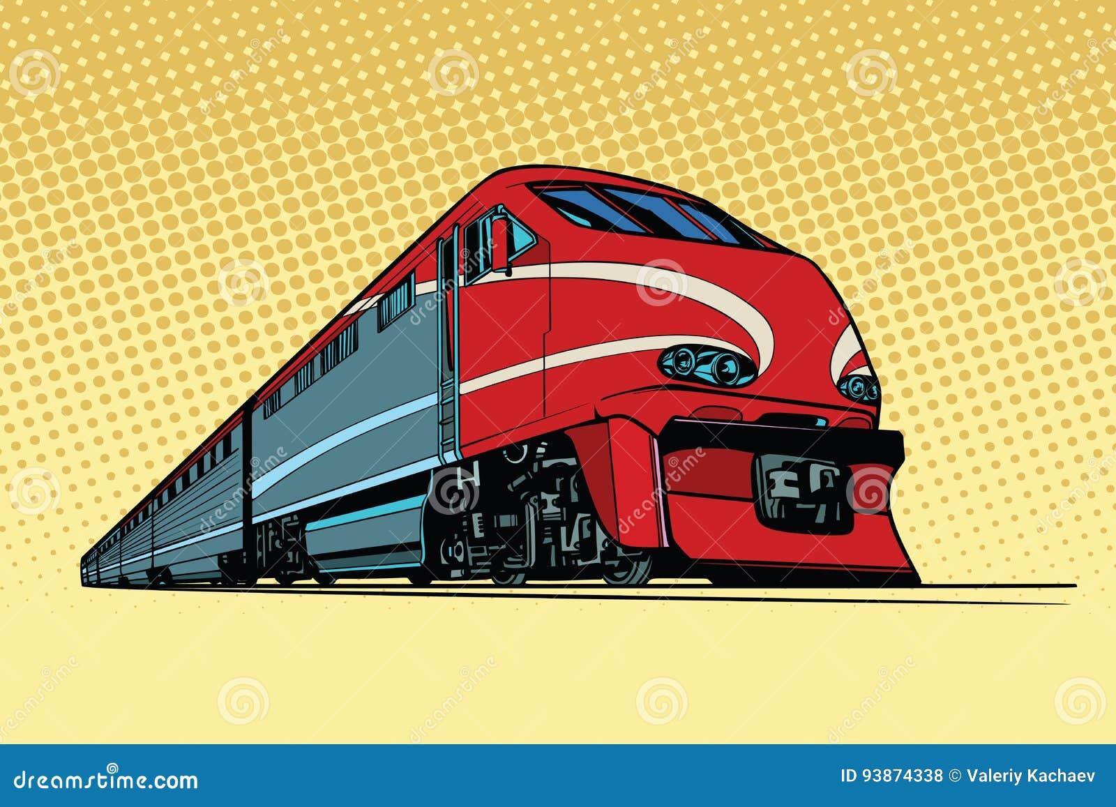 De trein van de hoge snelheidspassagier