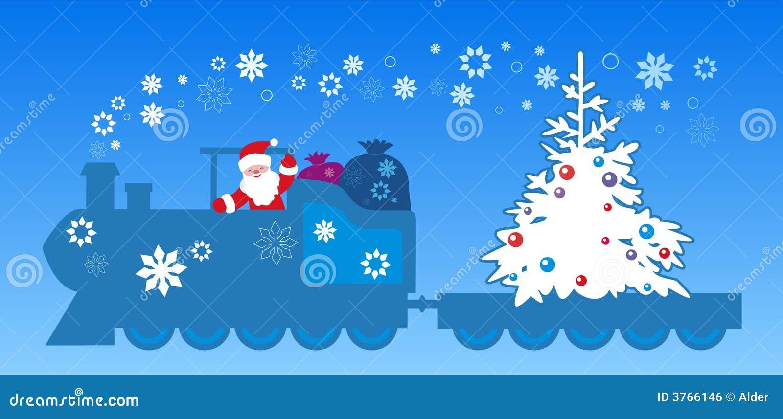 De trein van de Kerstman