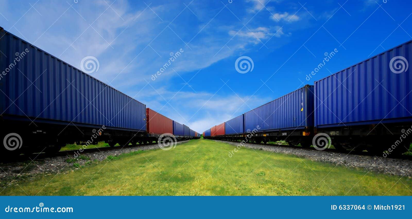 De trein van de lading