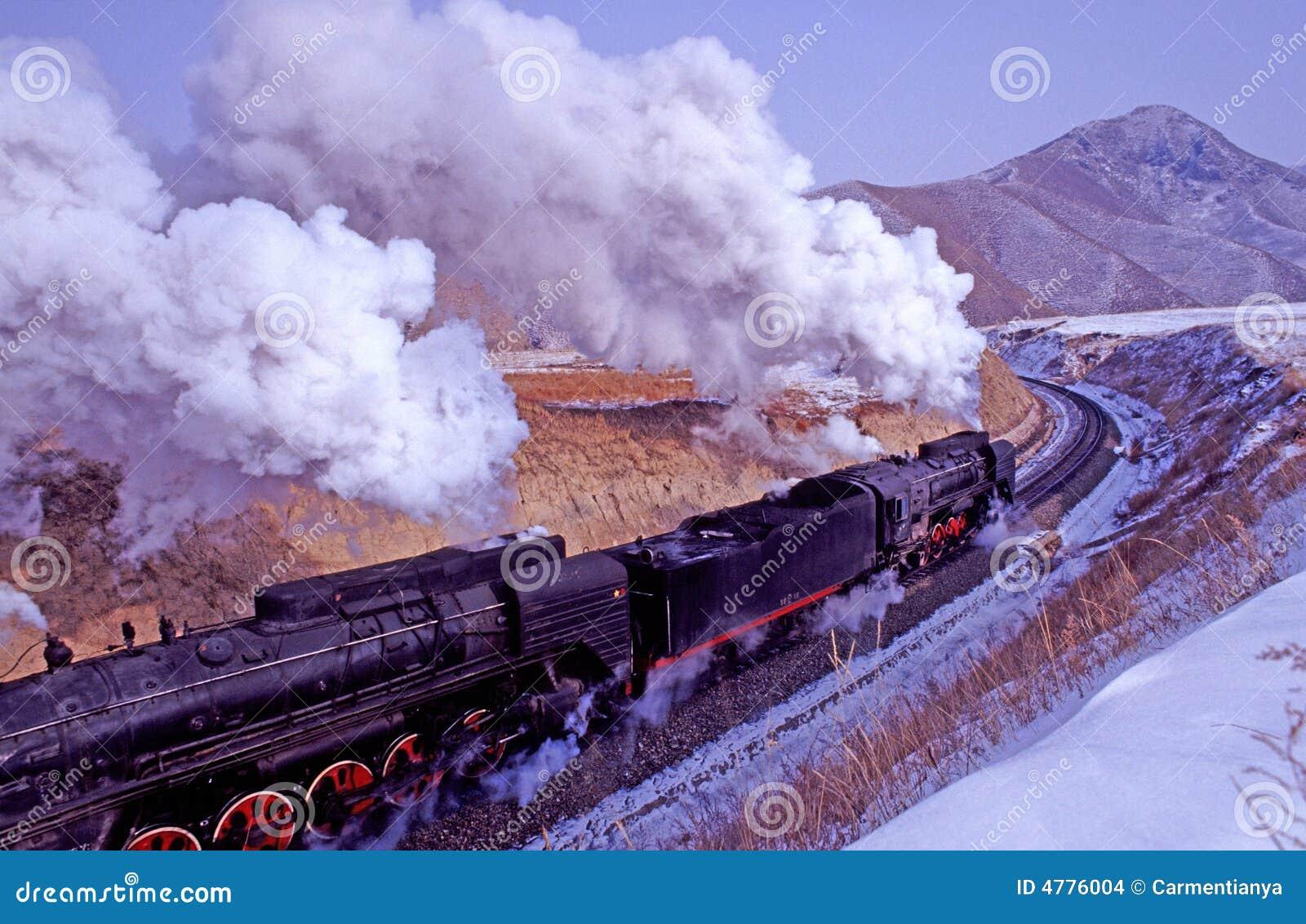 De trein van de stoom