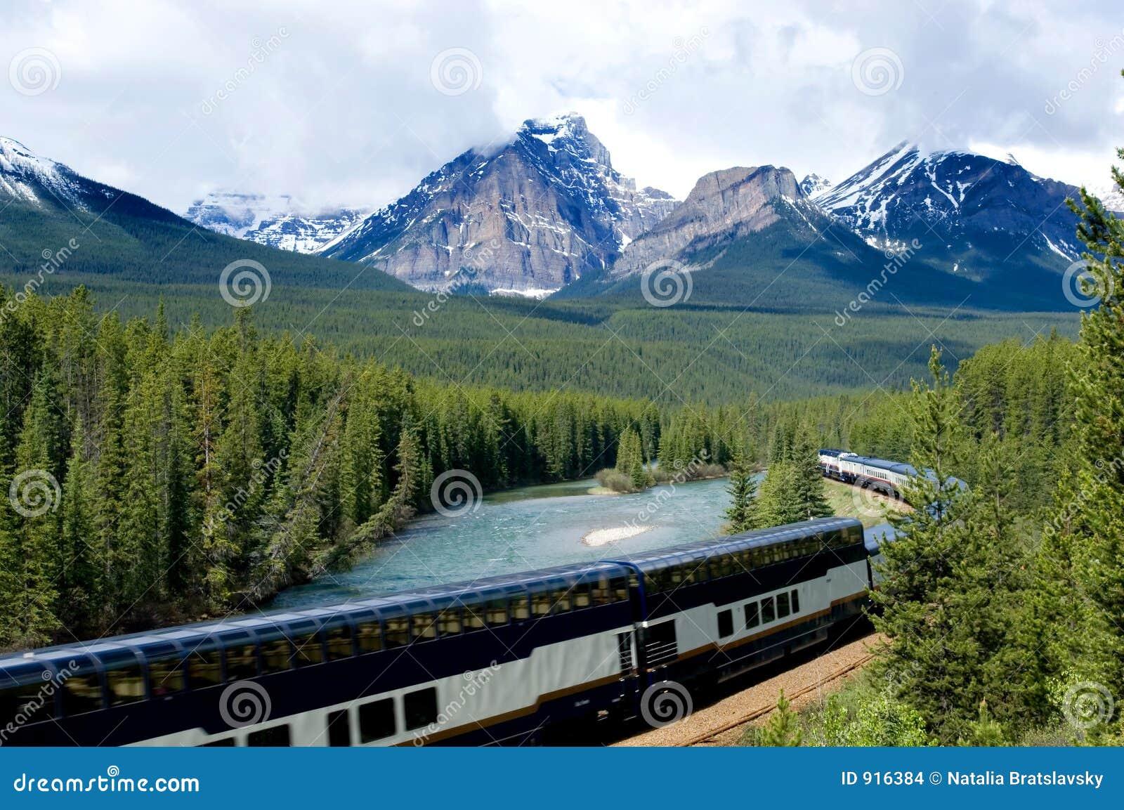 De trein van de vakantie