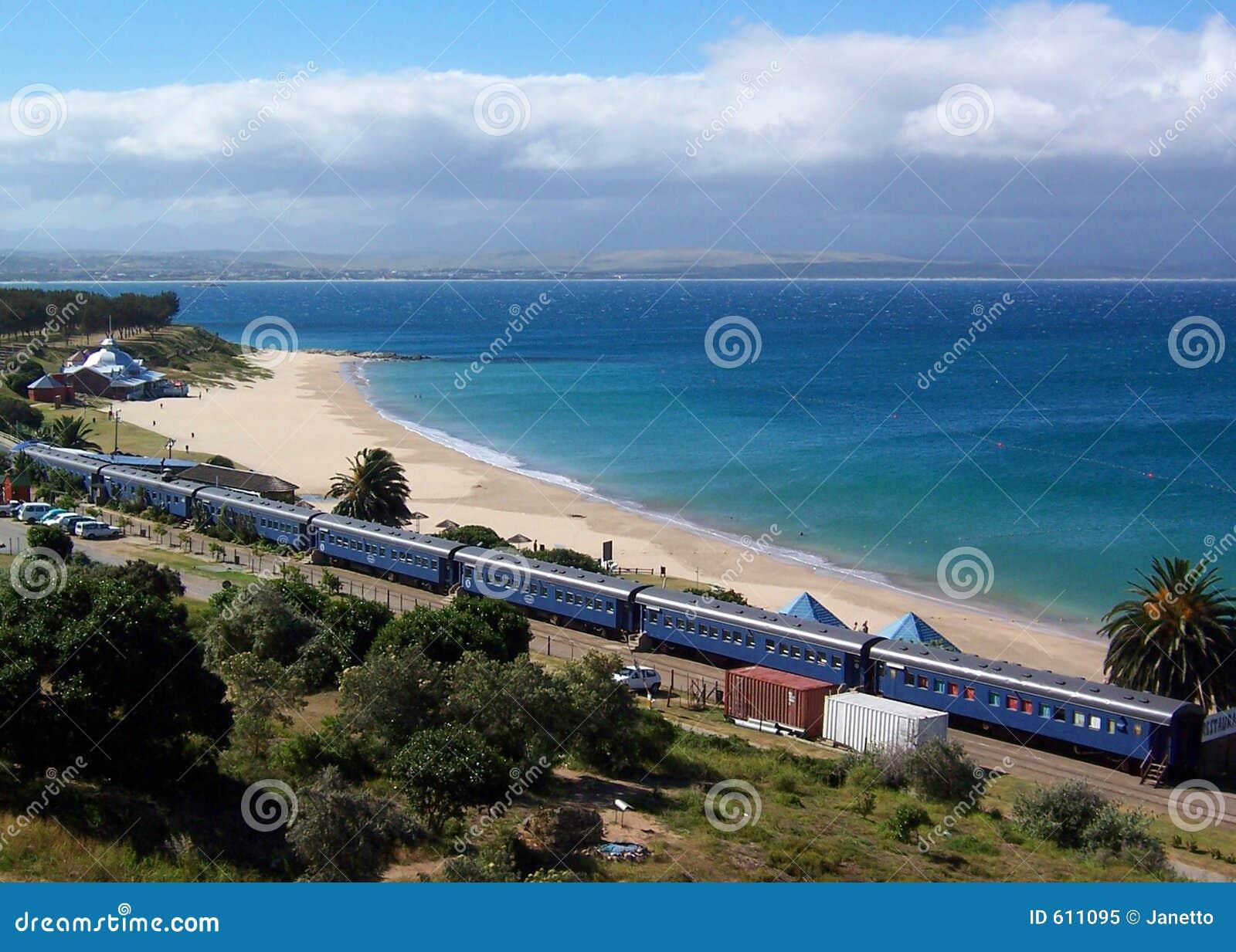 De trein van het strand