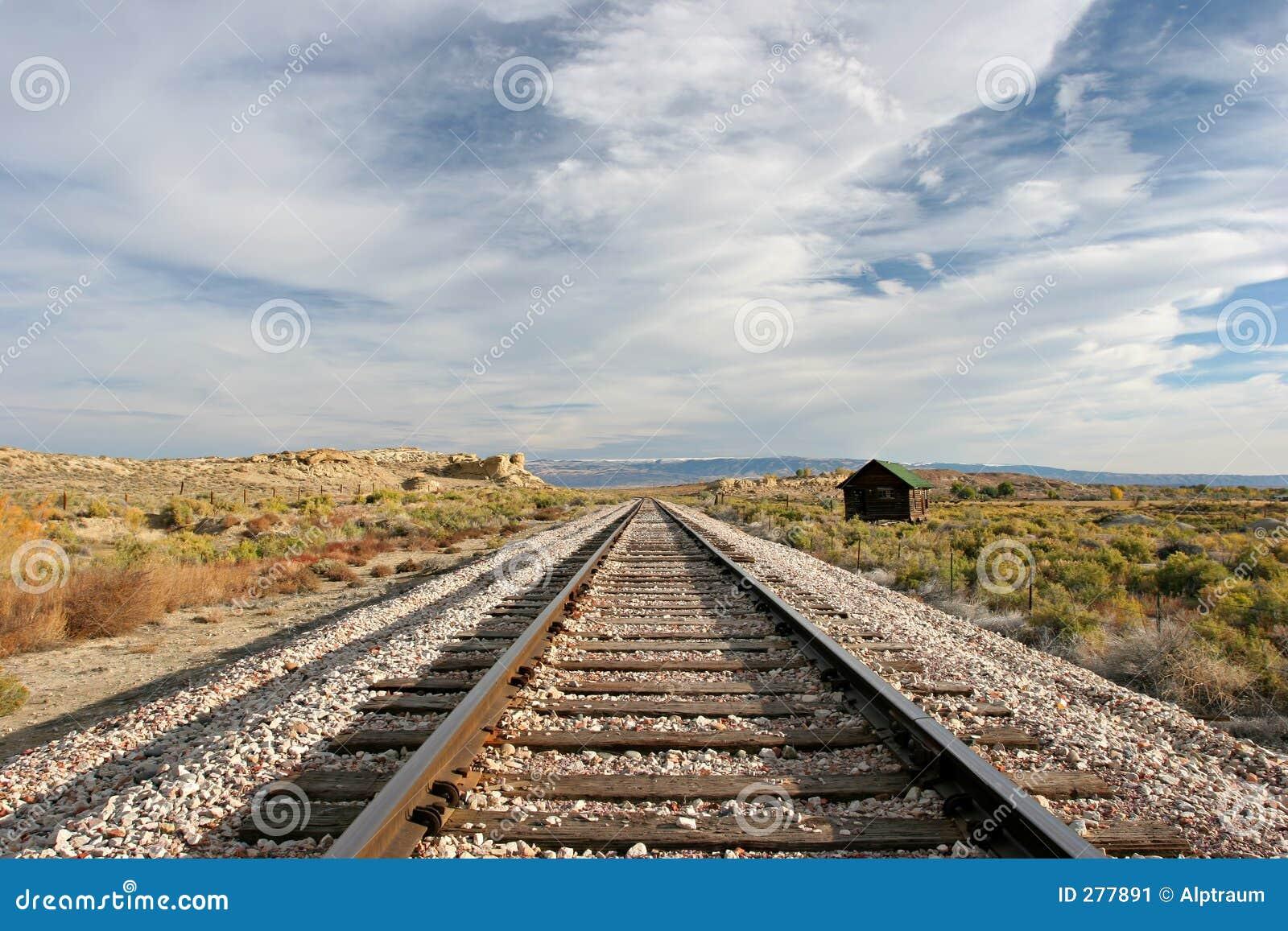 De treinsporen van midwesten