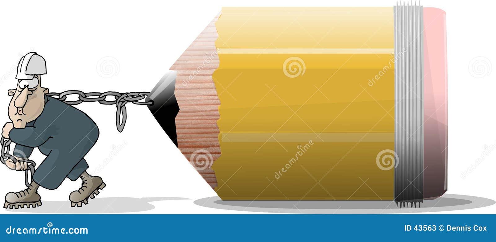 Download De Trekker van het potlood stock illustratie. Illustratie bestaande uit lood - 43563