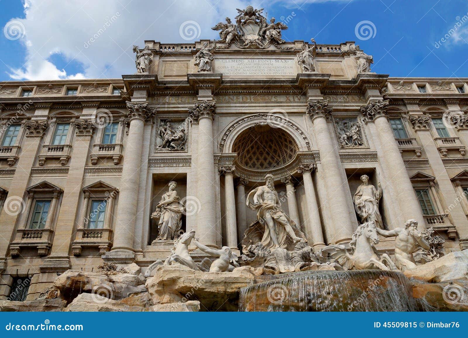 De Trevi Fontanna w Rzym, Włochy