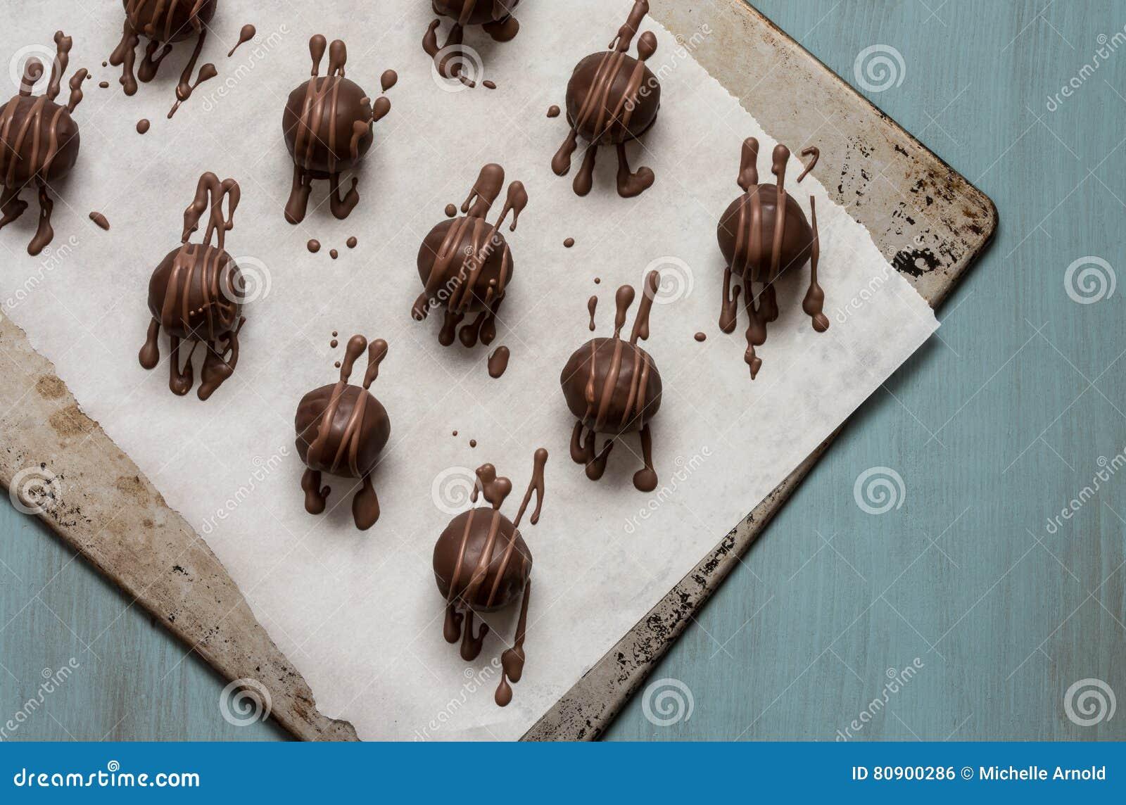 De truffels van de chocolade