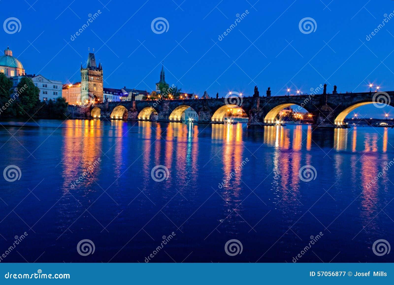 De Tsjechische Republiek van Charles Bridge Praag